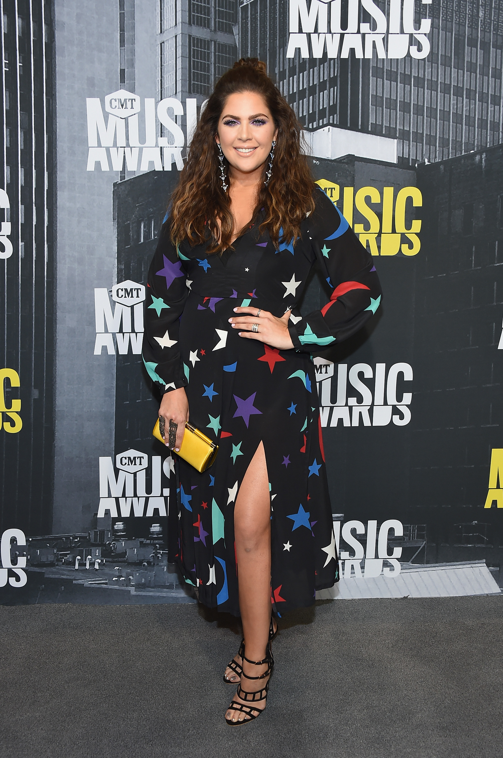 Hillary Scott of Lady Antebellum attends the 2017 CMT Music Awards at the Music City Center  in Nashville, Tennessee, on June 7, 2017.