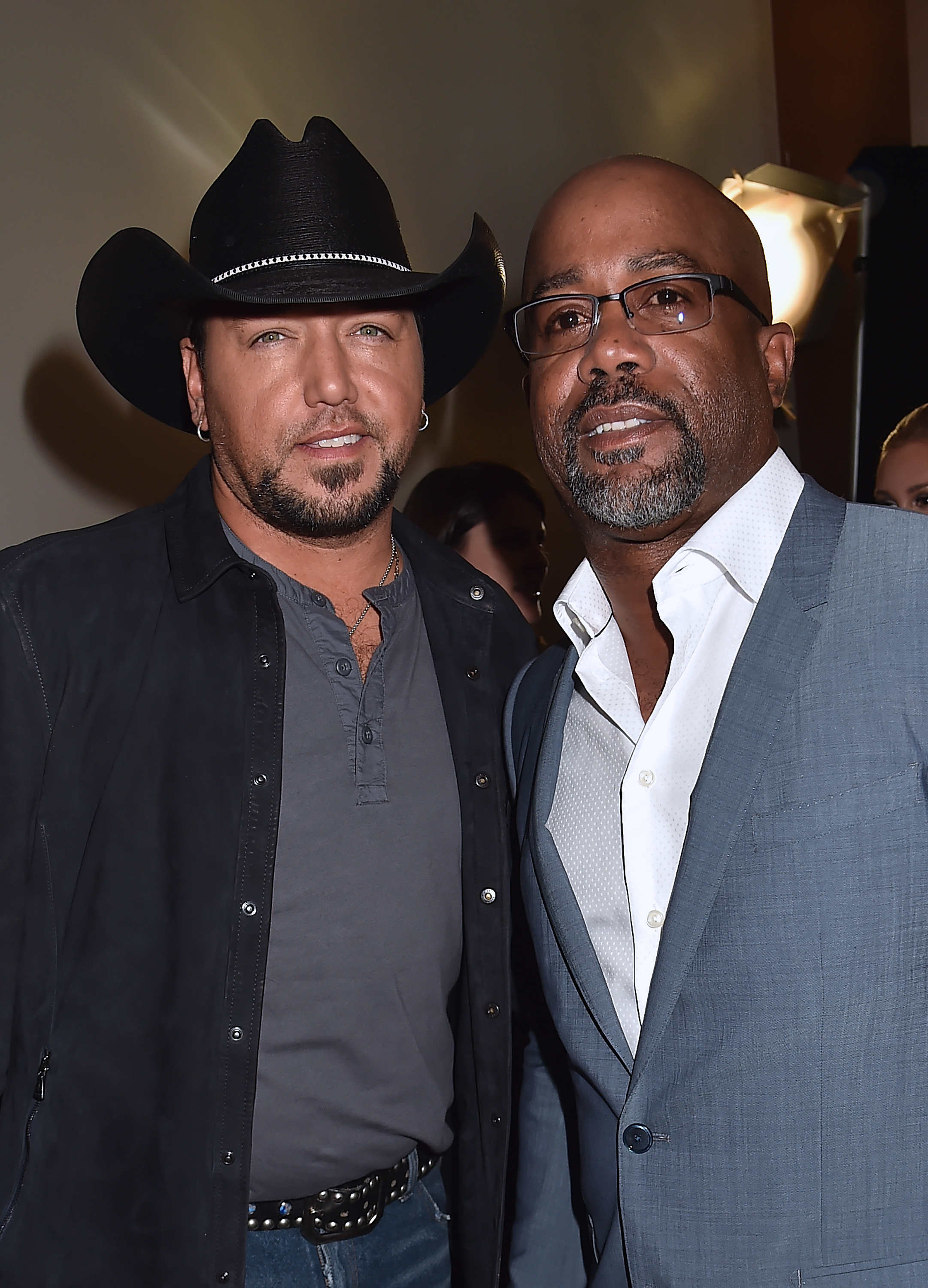 Jason Aldean and Darius Rucker attend the 2017 CMT Music Awards at the Music City Center  in Nashville, Tennessee, on June 7, 2017.
