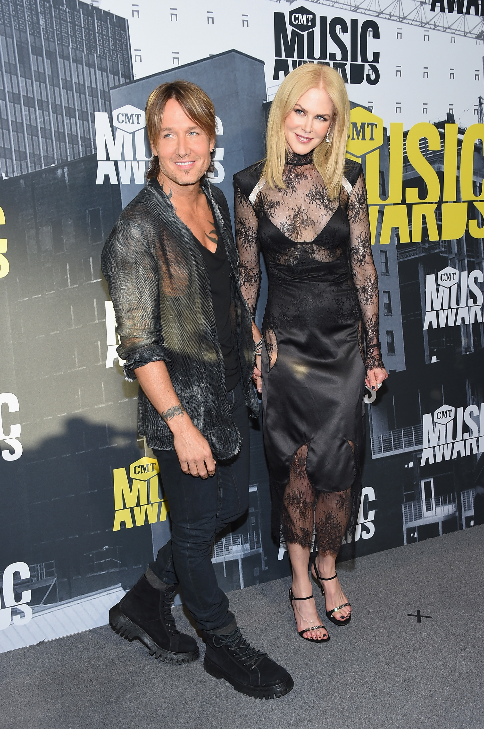 Keith Urban and Nicole Kidman attend the 2017 CMT Music Awards at the Music City Center  in Nashville, Tennessee, on June 7, 2017.