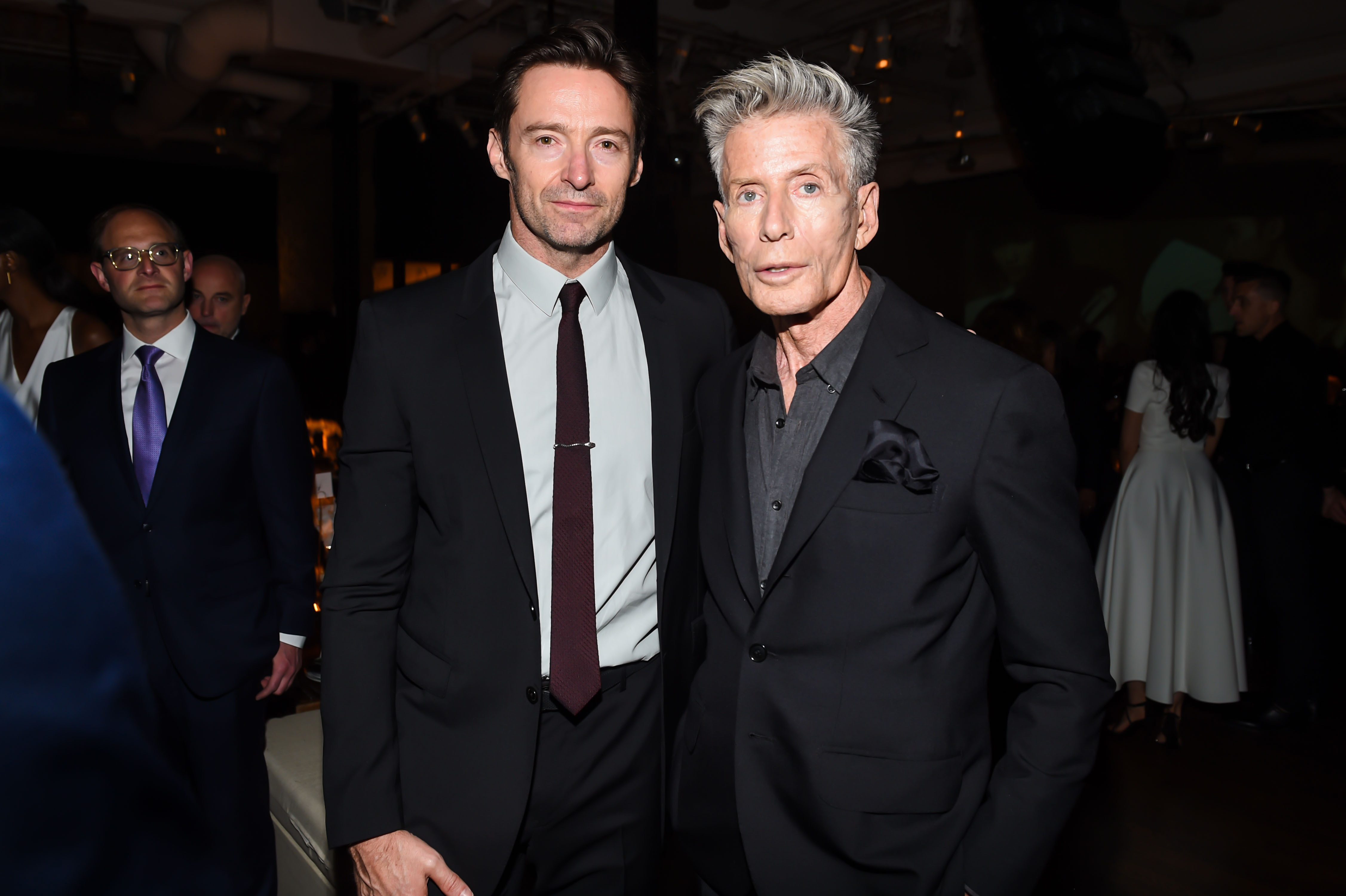 Hugh Jackman and Calvin Klein attend the Donna Karan Urban Zen Foundation Dinner in New York City on June 7, 2017.