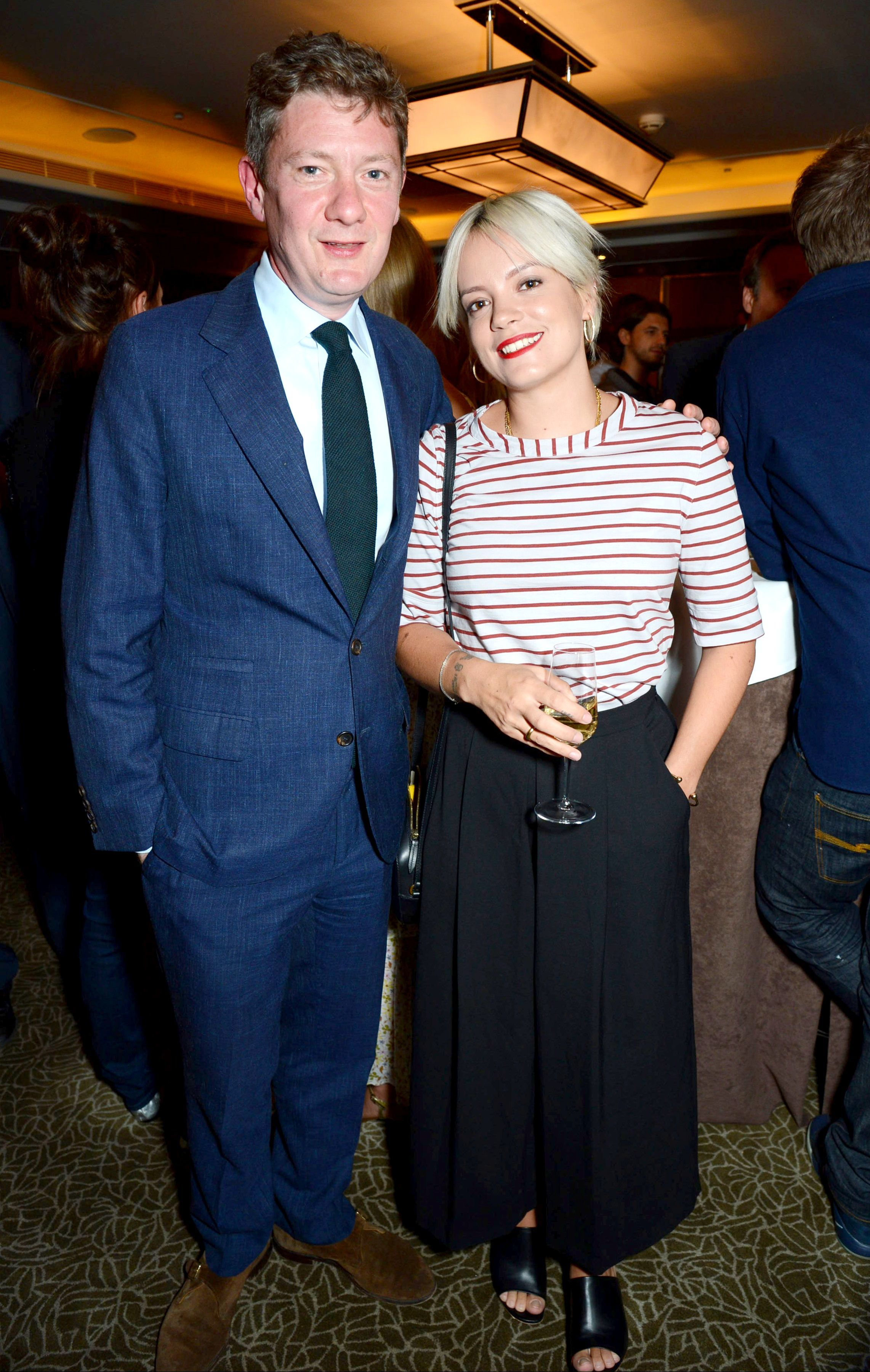 """Alex Bilmes and Lily Allen attend the """"Uncle Dysfunctional"""" by AA Gil in London on June 7, 2017."""