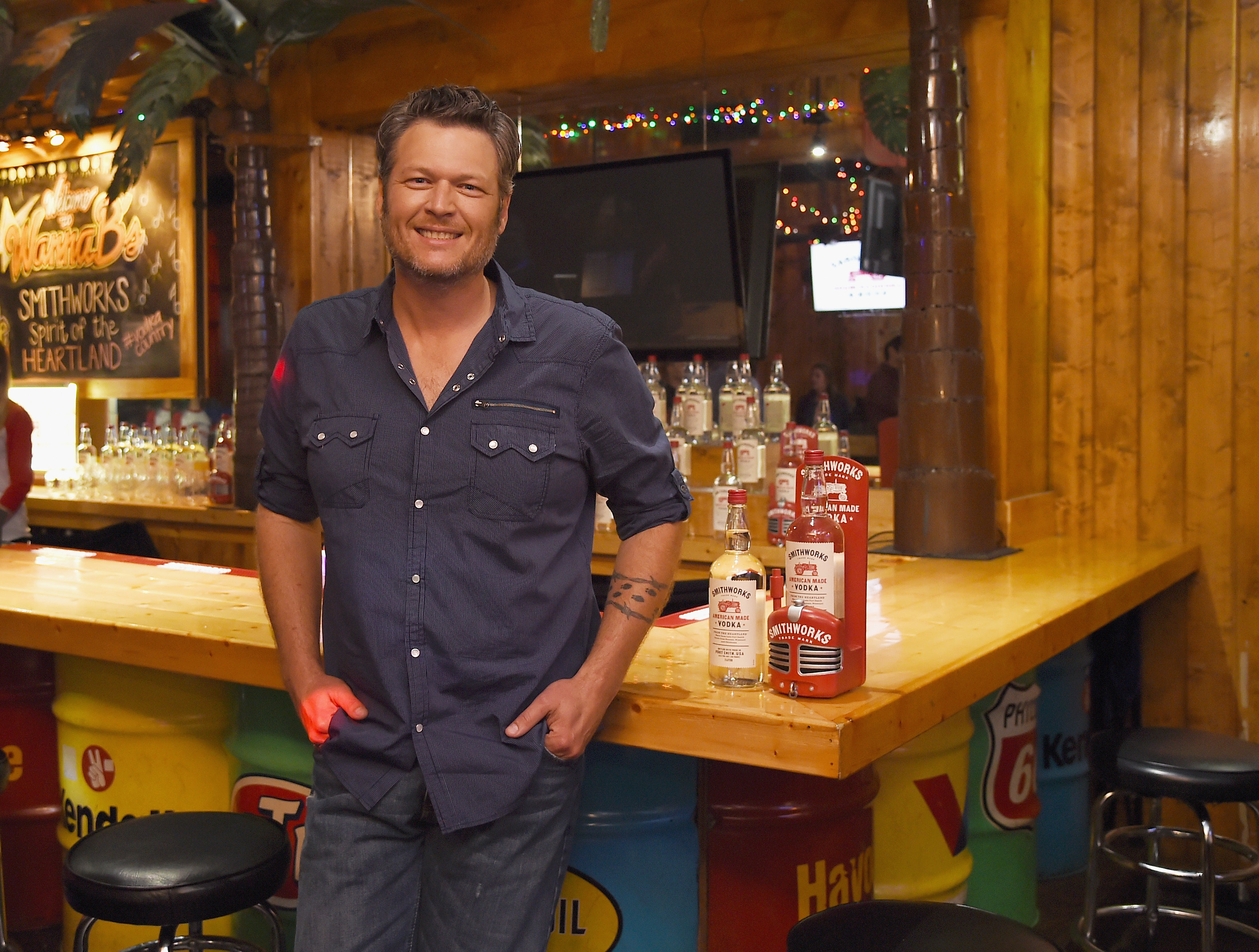 Blake Shelton welcomes Smithworks Vodka to Tennessee during an event in Nashville on June 6, 2017.