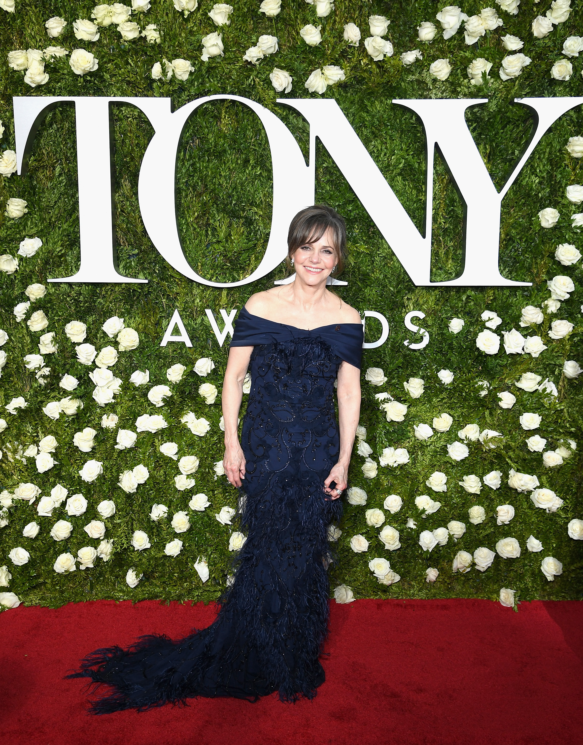 Sally Field arrives at the Tony Awards at Radio City Music Hall in New York City on June 11, 2017.