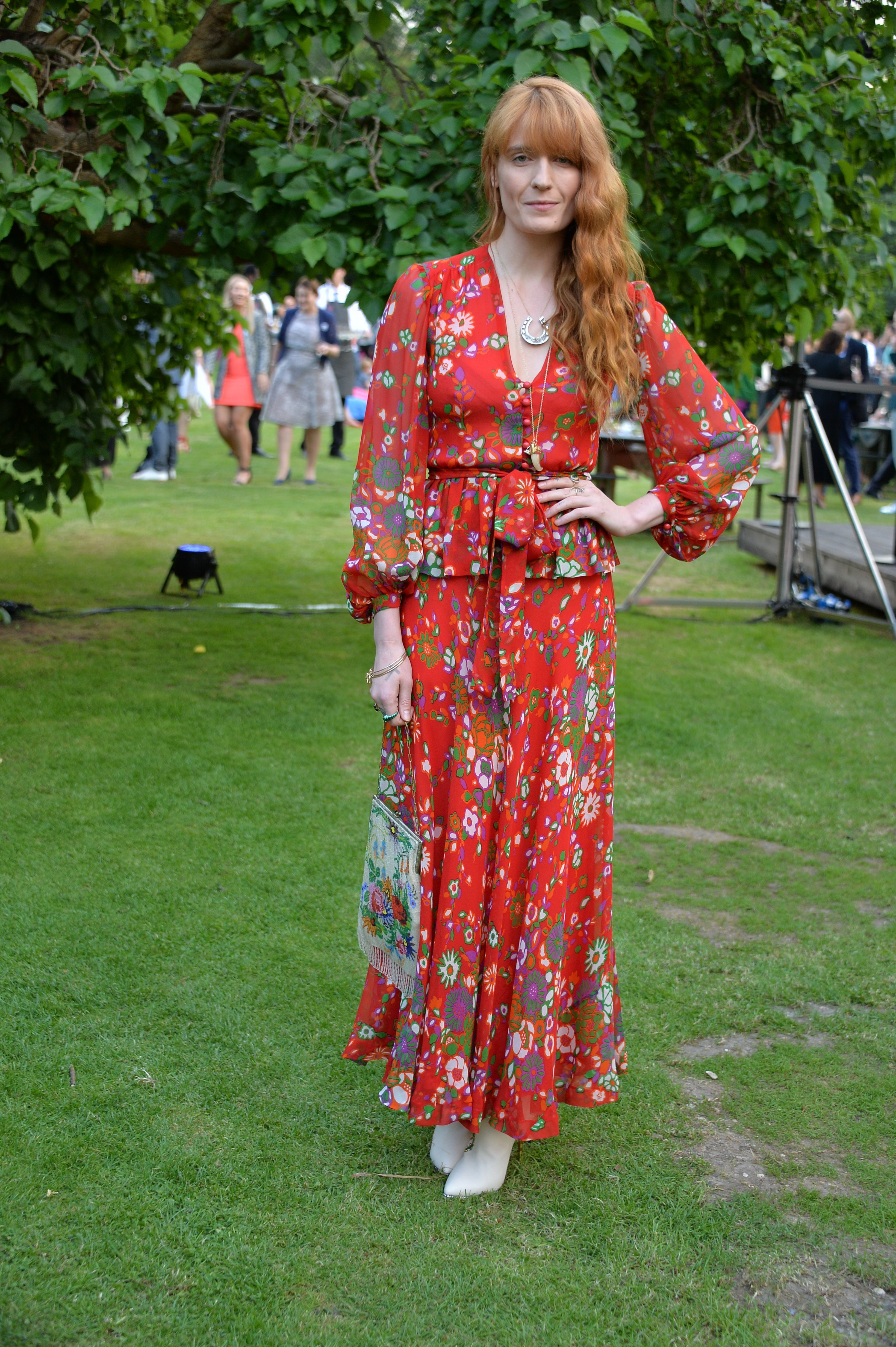 Florence Welch attends the Dulwich Picture Gallery Summer Party in London on June 13, 2017.