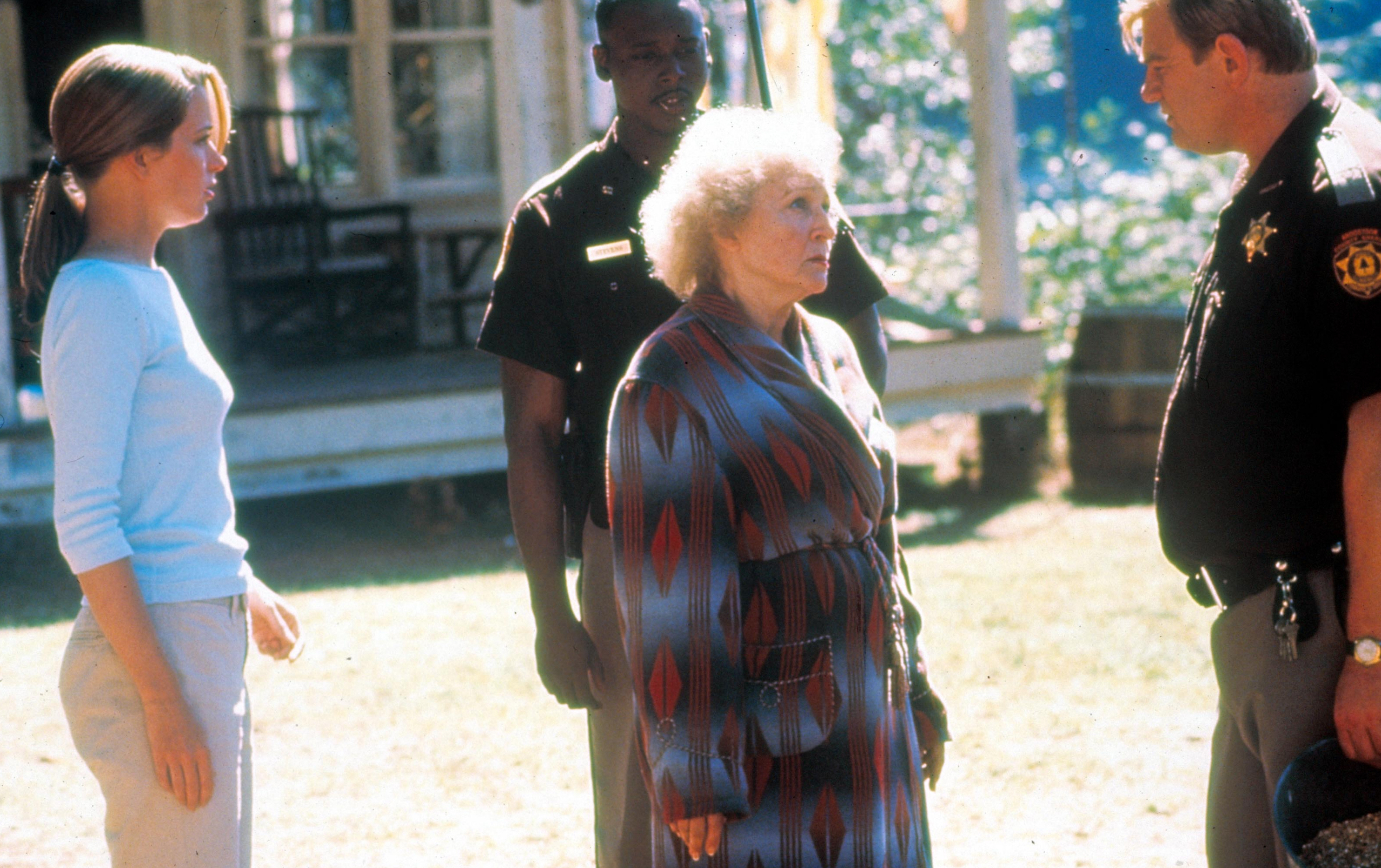 "Bridget Fonda, Betty White, Brendan Gleeson in ""Lake Placid"" (1999)."
