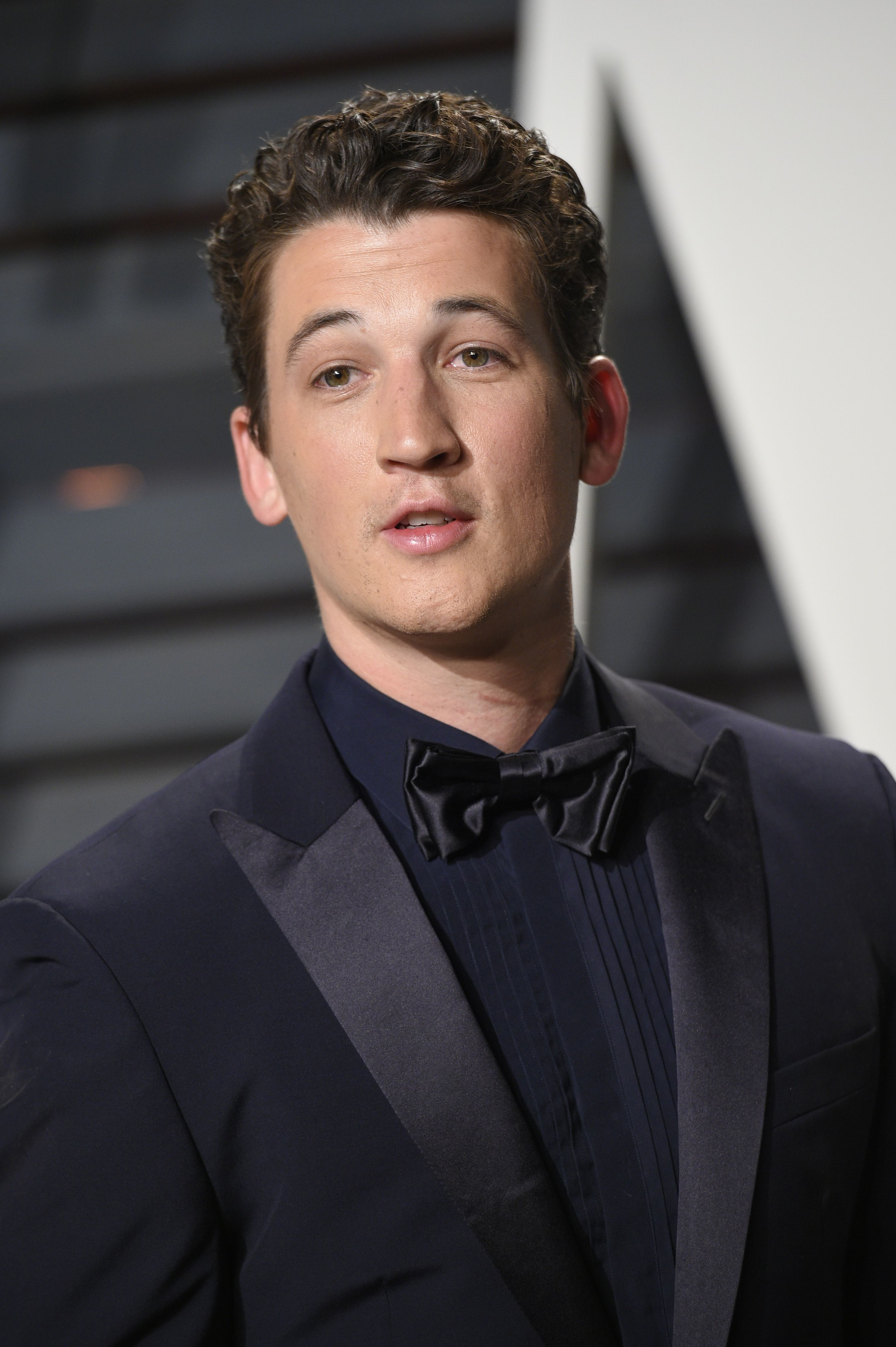 Miles Teller attends the Vanity Fair Oscar Party in Los Angeles on Feb. 26, 2017.