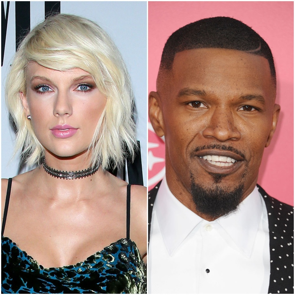 Taylor Swift attends the 64th Annual BMI Pop Awards held at the Beverly Wilshire Four Seasons Hotel in Los Angeles on May 10, 2016. Jamie Foxx attends the premiere of 'Baby Driver' at Ace Hotel on in Los Angeles on June 15 2017.