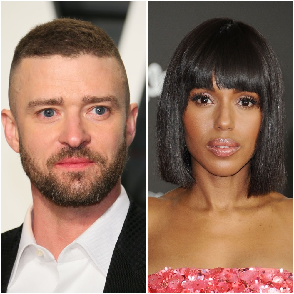 Justin Timberlake attends the 2017 Vanity Fair Oscar Party hosted by Graydon Carter at Wallis Annenberg Center for the Performing Arts in Los Angeles on on Feb. 26, 2017. Kerry Washington attends the premiere of 'Cars 3' at Anaheim Convention Center in Los Angeles on June 10, 2017.