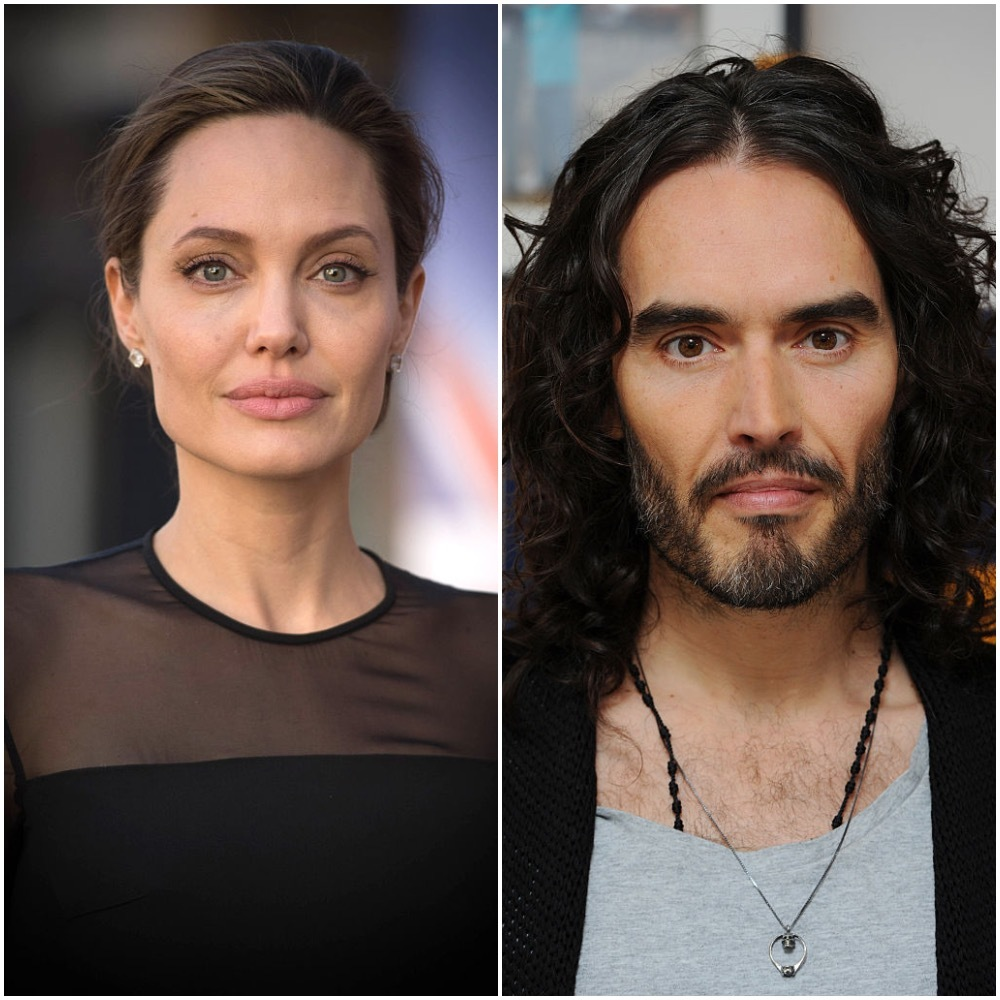 Angelina Jolie arrives at the UN Peacekeeping Defence Ministerial at Lancaster House in Los Angeles on September 8, 2016. Russell Brand  at Trew Era Cafe in London on January 18, 2017.