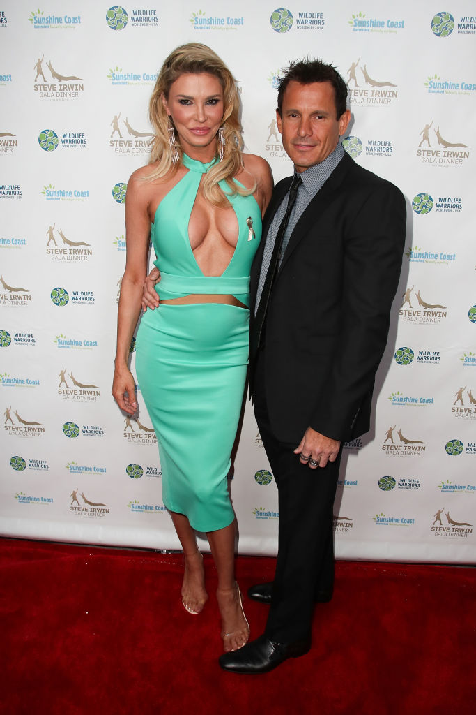 "Brandi Glanville and Donald ""DJ"" Friese attend the Steve Irwin Gala Dinner at the SLS Hotel at Beverly Hills in Los Angeles on May 13, 2017."