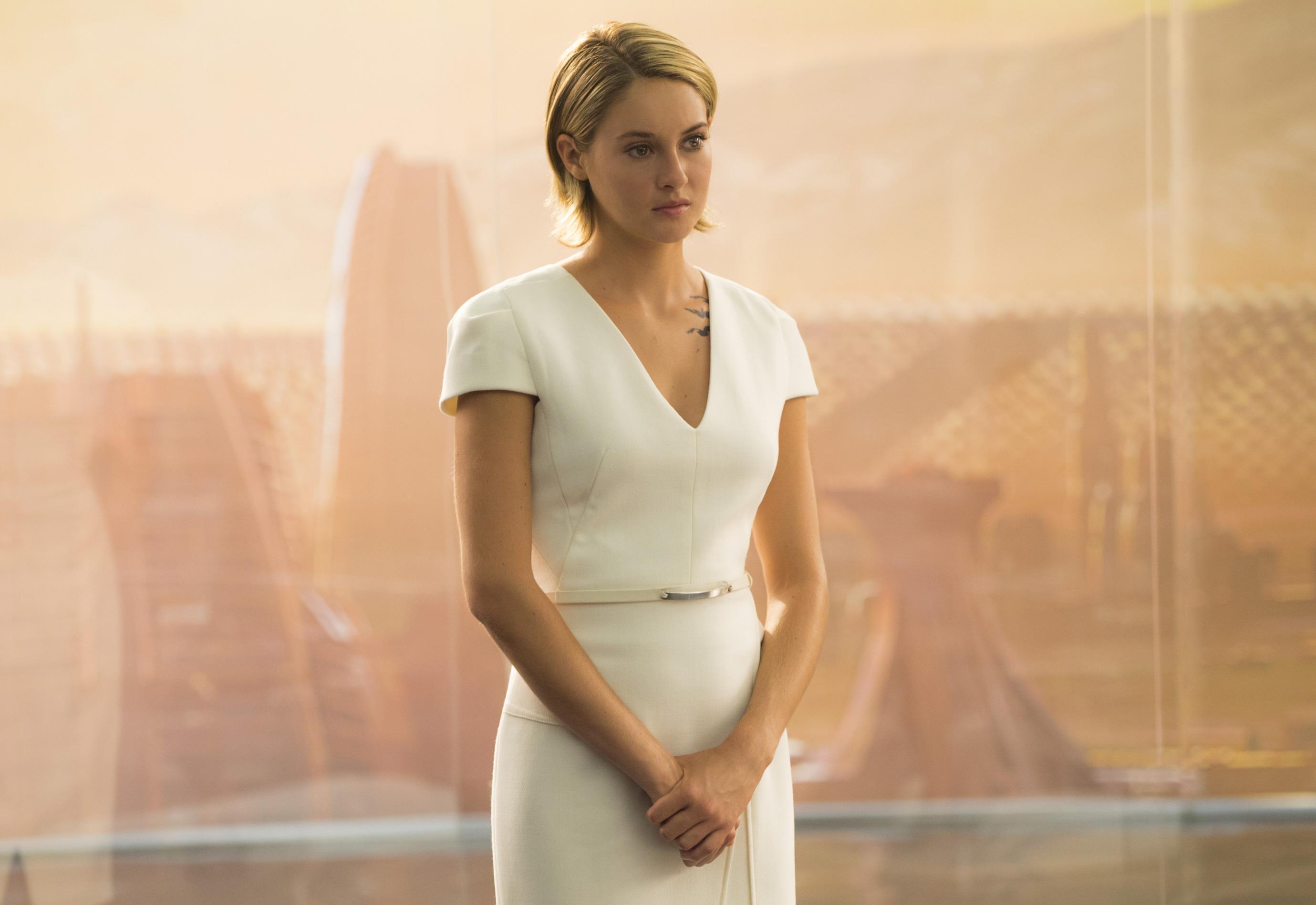 "Shailene Woodley in ""The Divergent Series: Allegiant"" (2016)."