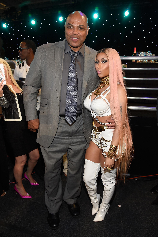 Charles Barkley and Nicki Minaj attend the NBA Awards in New York City on June 26, 2017.