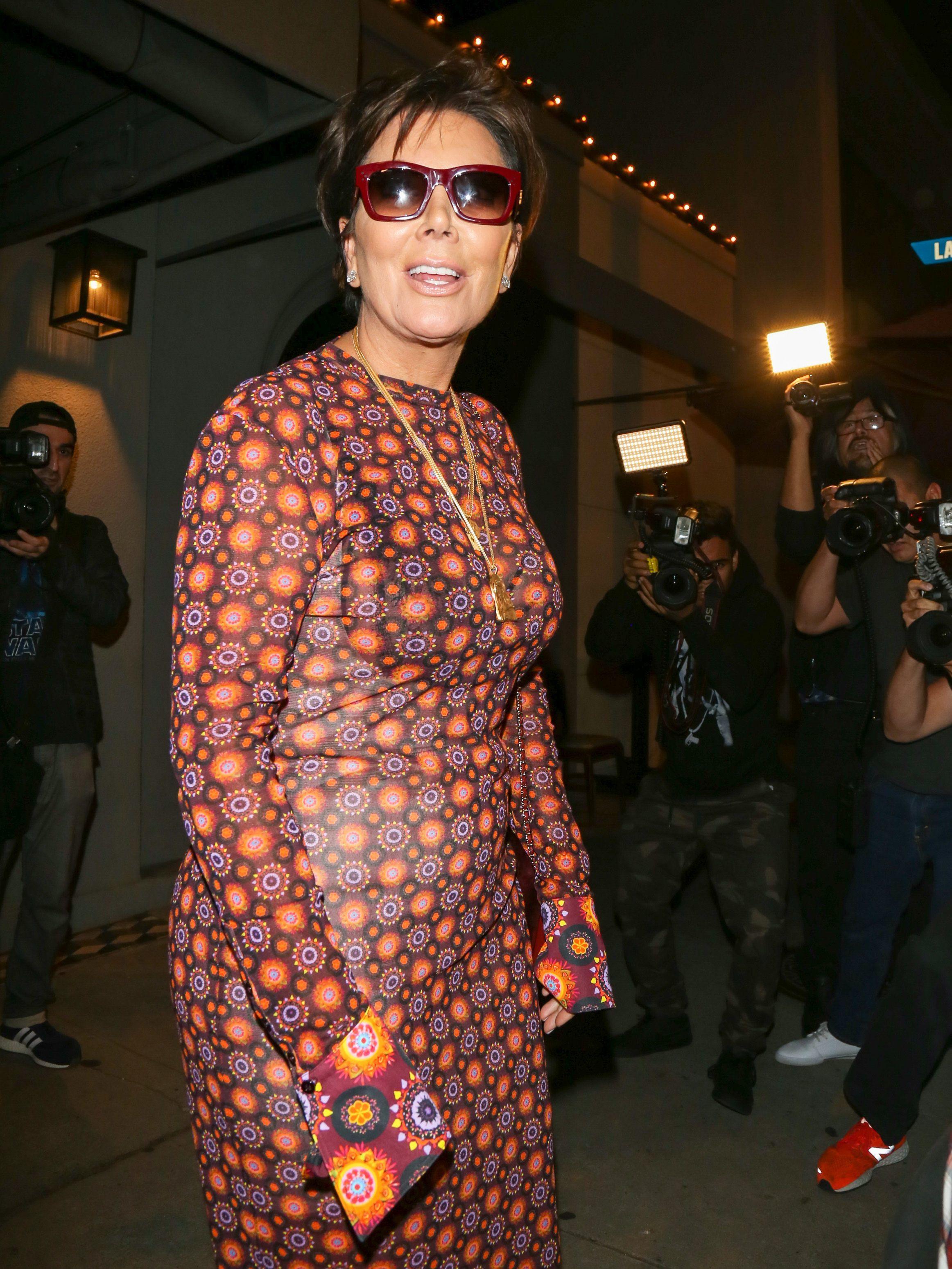 Kris Jenner is seen leaving Craigs restaurant in Los Angeles on June 27, 2017.