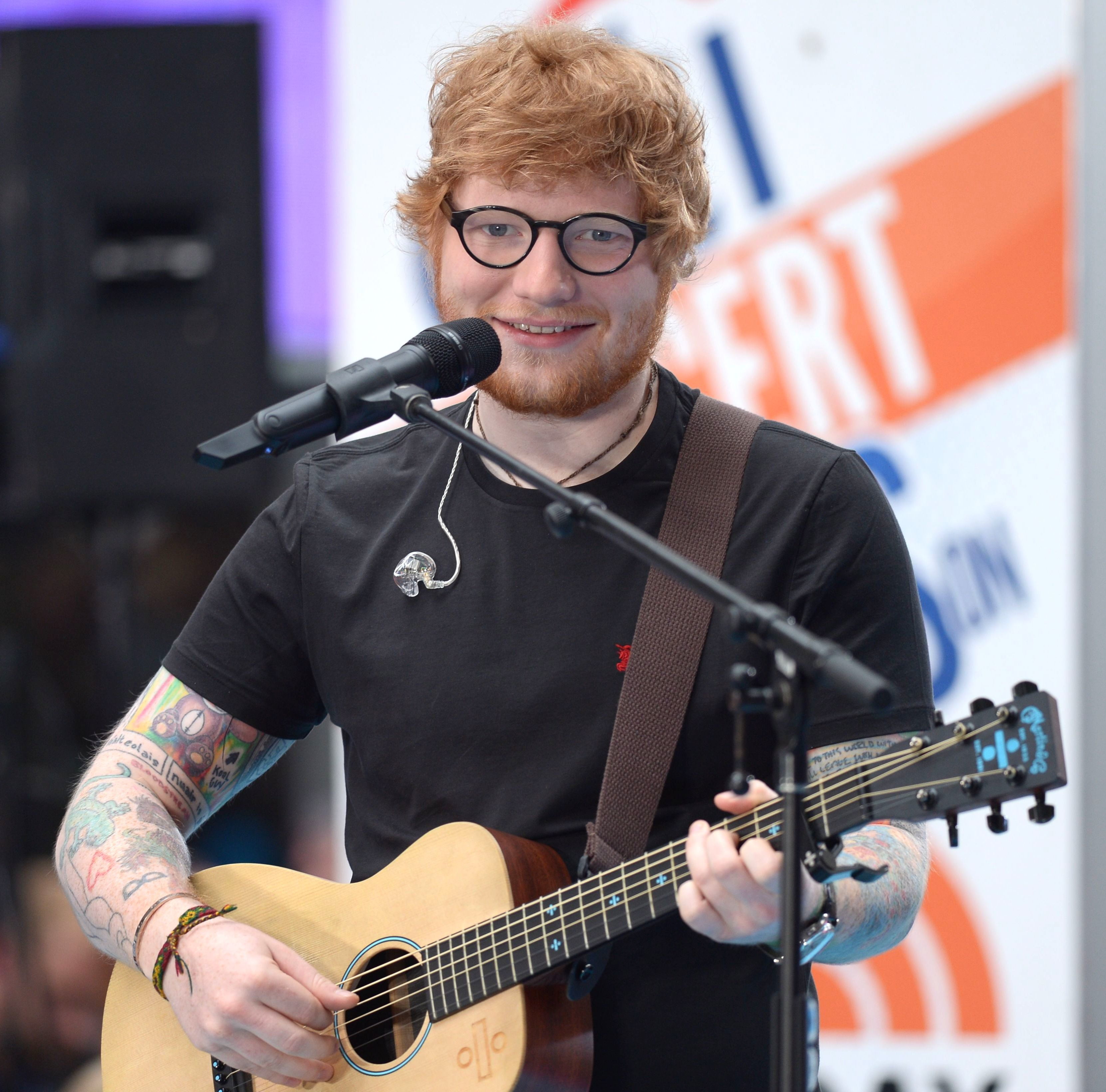 "Ed Sheeran performs on the ""Today"" Citi Concert Series in New York City on July 6, 2017."