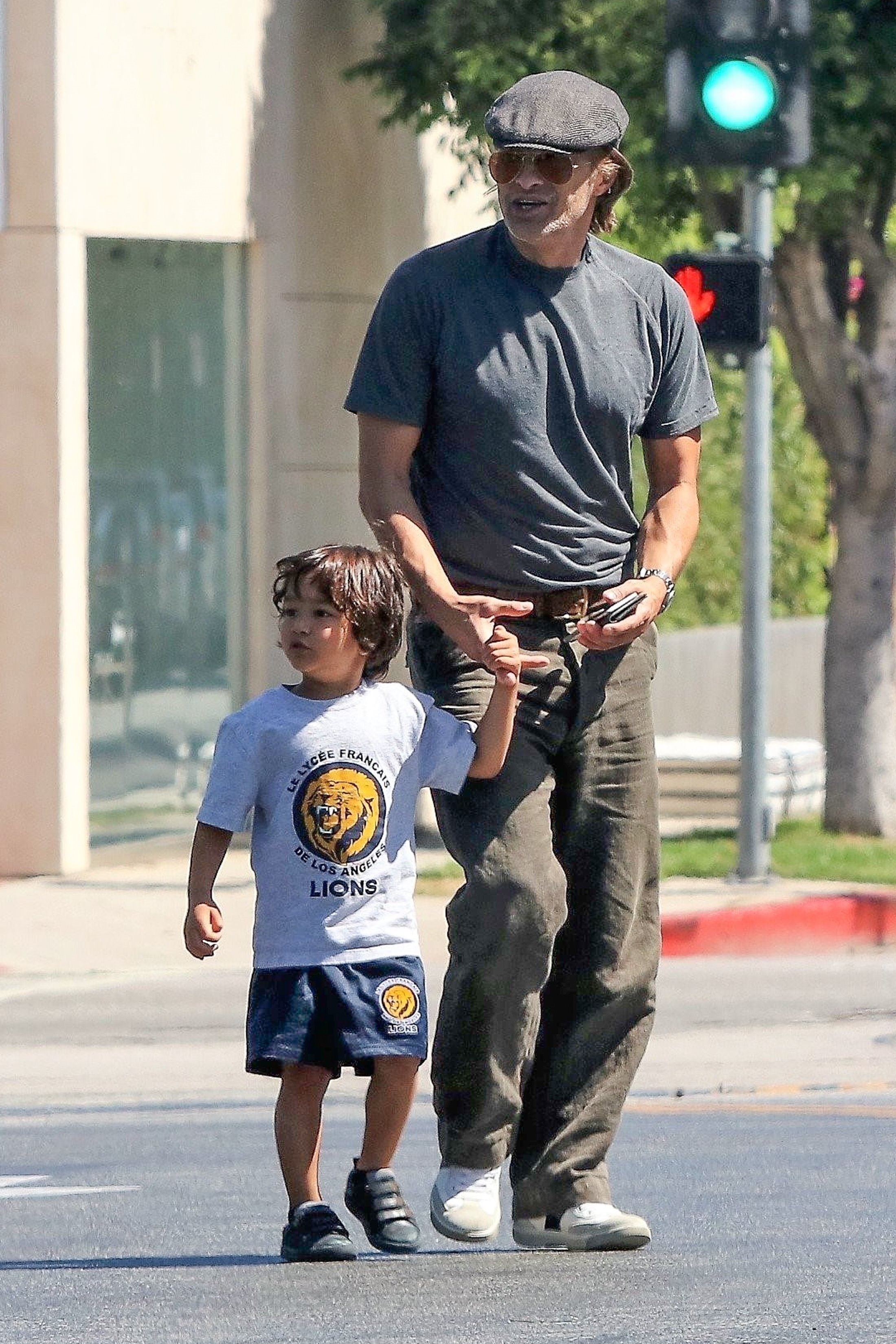 Olivier Martinez and his son with Halle Berry,  Maceo Martinez, were seen walking hand in hand while out in Los Angeles on June 21, 2017.