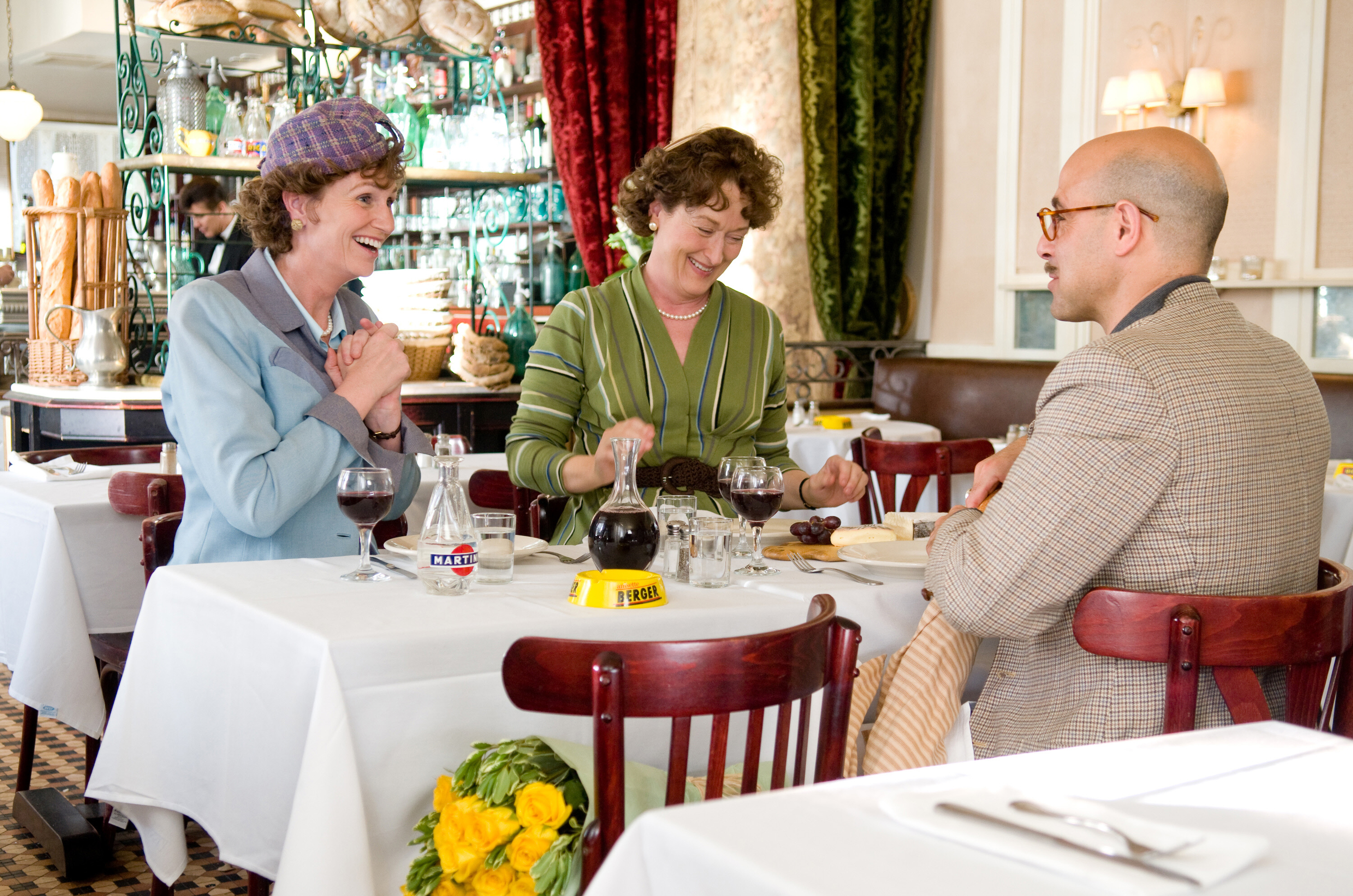 "Jane Lynch, Meryl Streep and Stanley Tucci in 2009's ""Julie & Julia."""