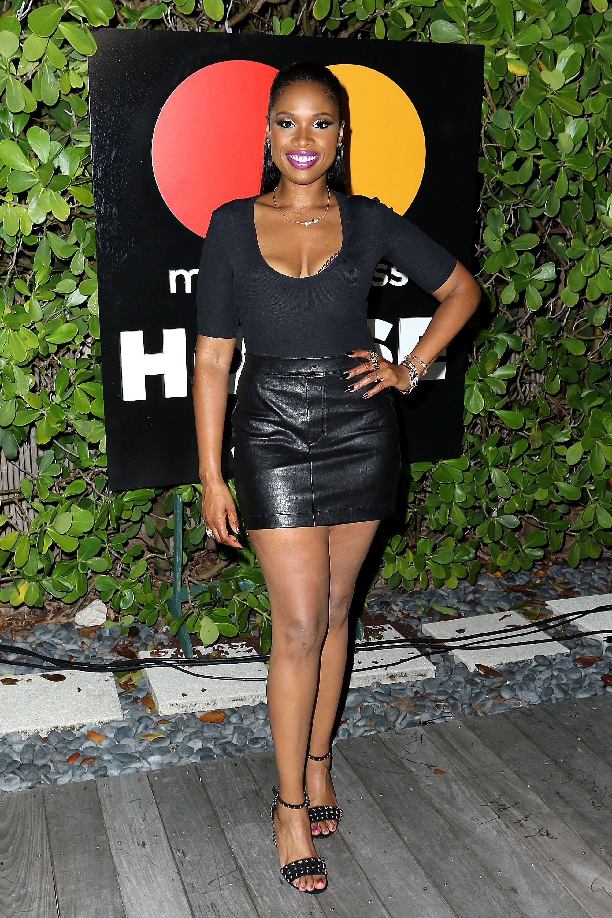 Jennifer Hudson attends the Stand Up To Cancer concert and barbecue presented by Mastercard at The Masterpass House at the W South Beach in Miami on July 8, 2017.