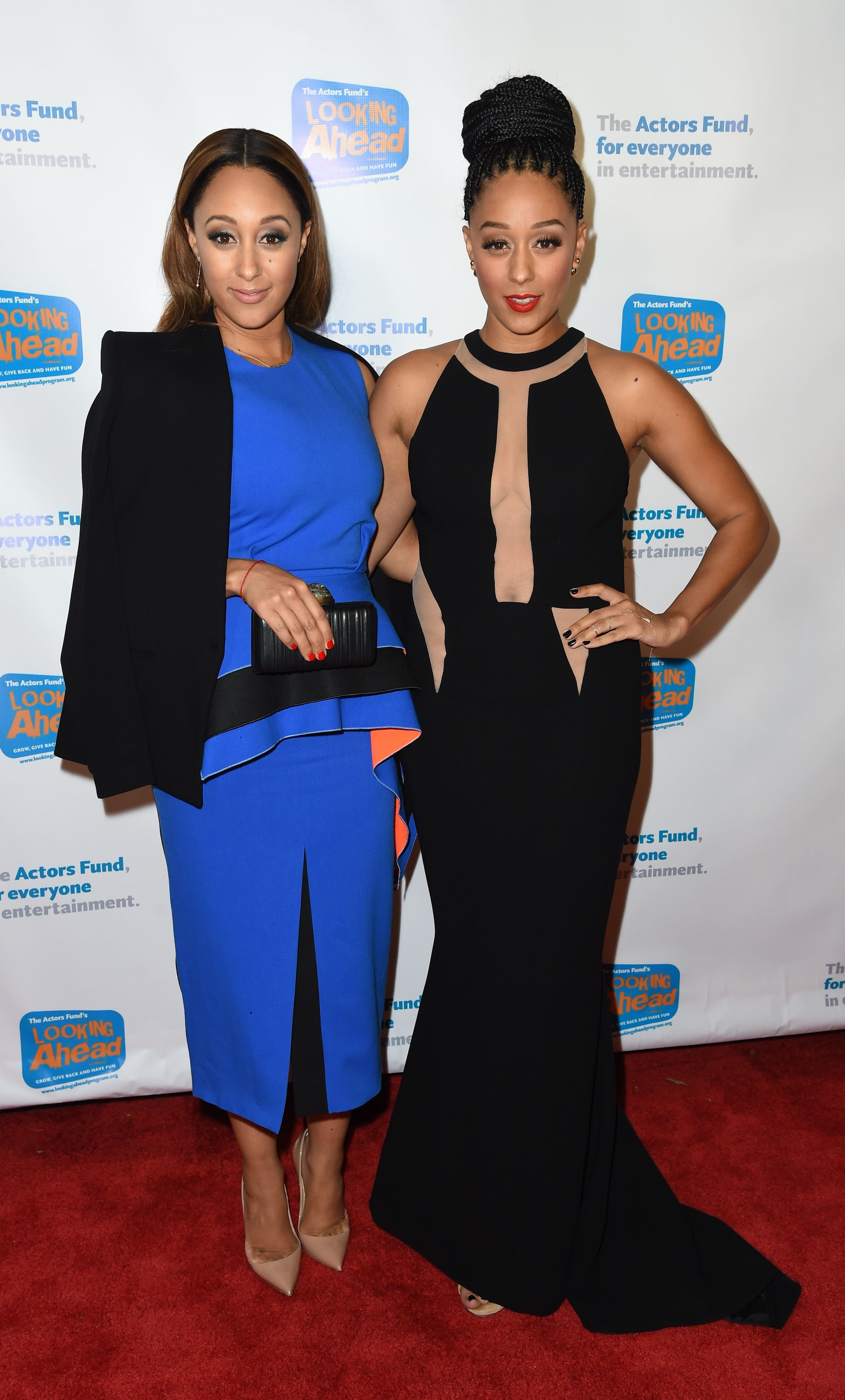 Tamera Mowry Housley and Tia Mowry Hardrict at The Actors Fund Looking Ahead Awards in Los Angeles on Dec. 4, 2016.
