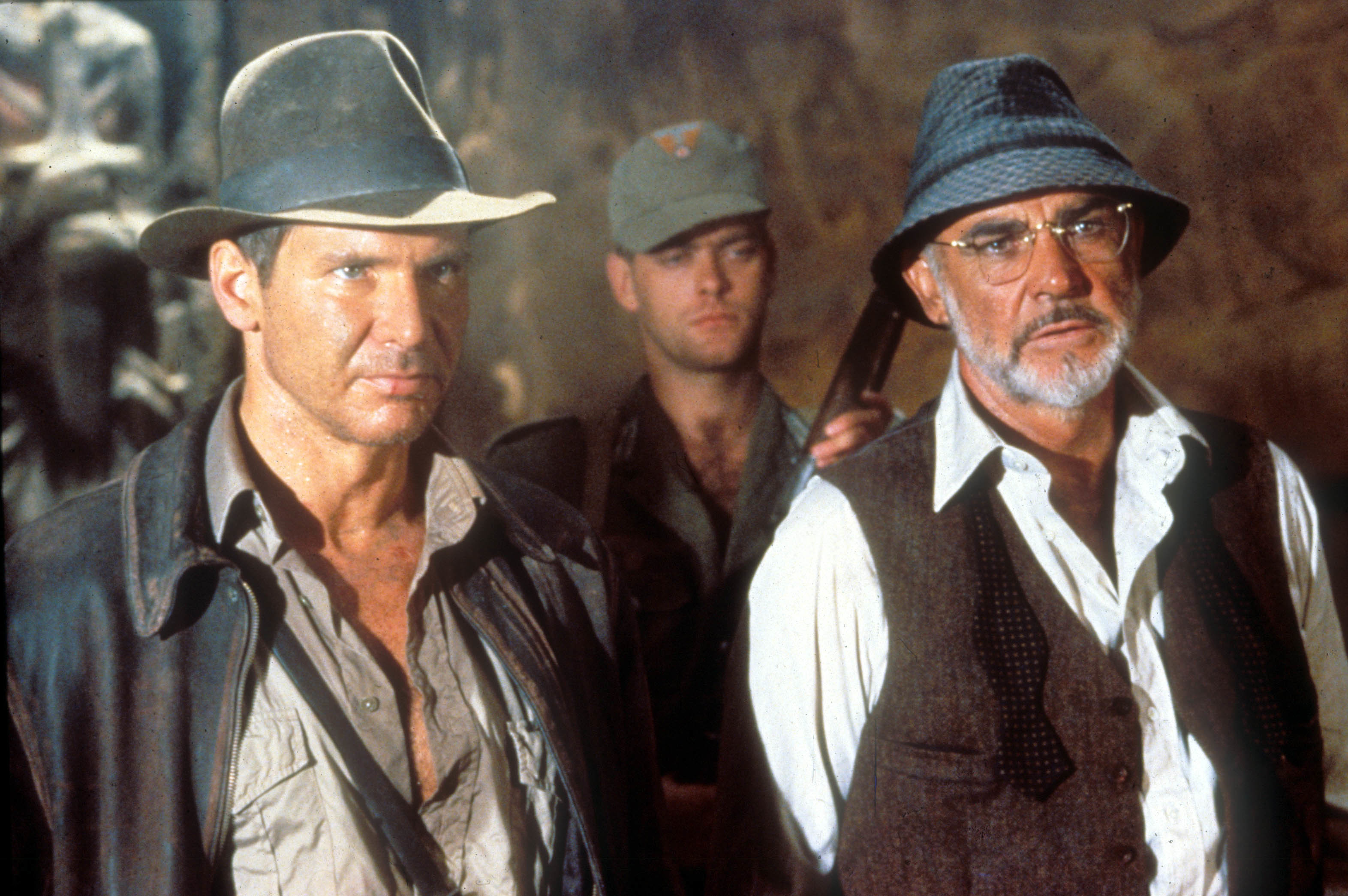 """Harrison Ford and Sean Connery starred in 1989's """"Indiana Jones and the Last Crusade."""""""
