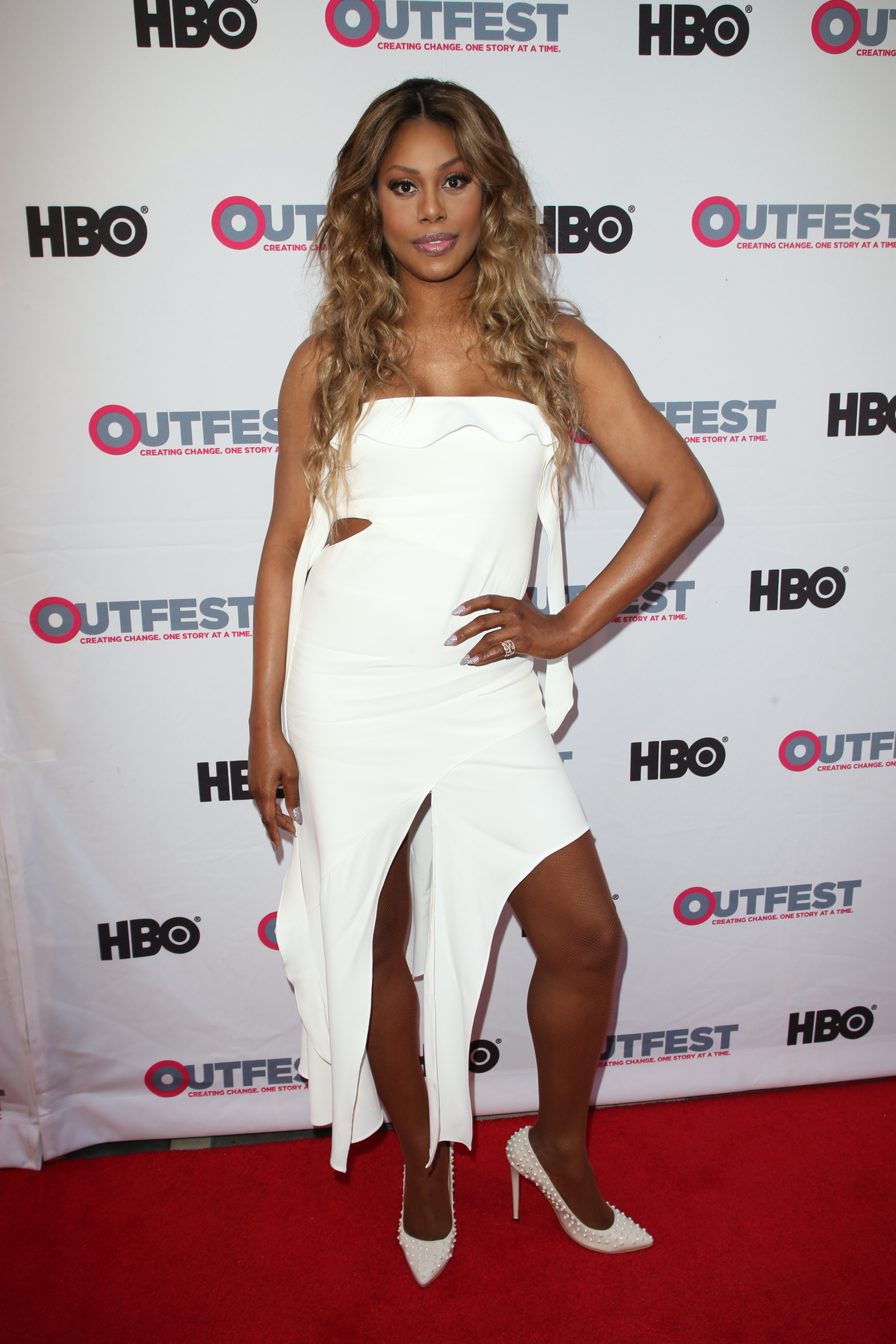 "Laverne Cox attends the ""Freak Show"" film screening at Outfest Film Festival in Los Angeles on July 16, 2017."