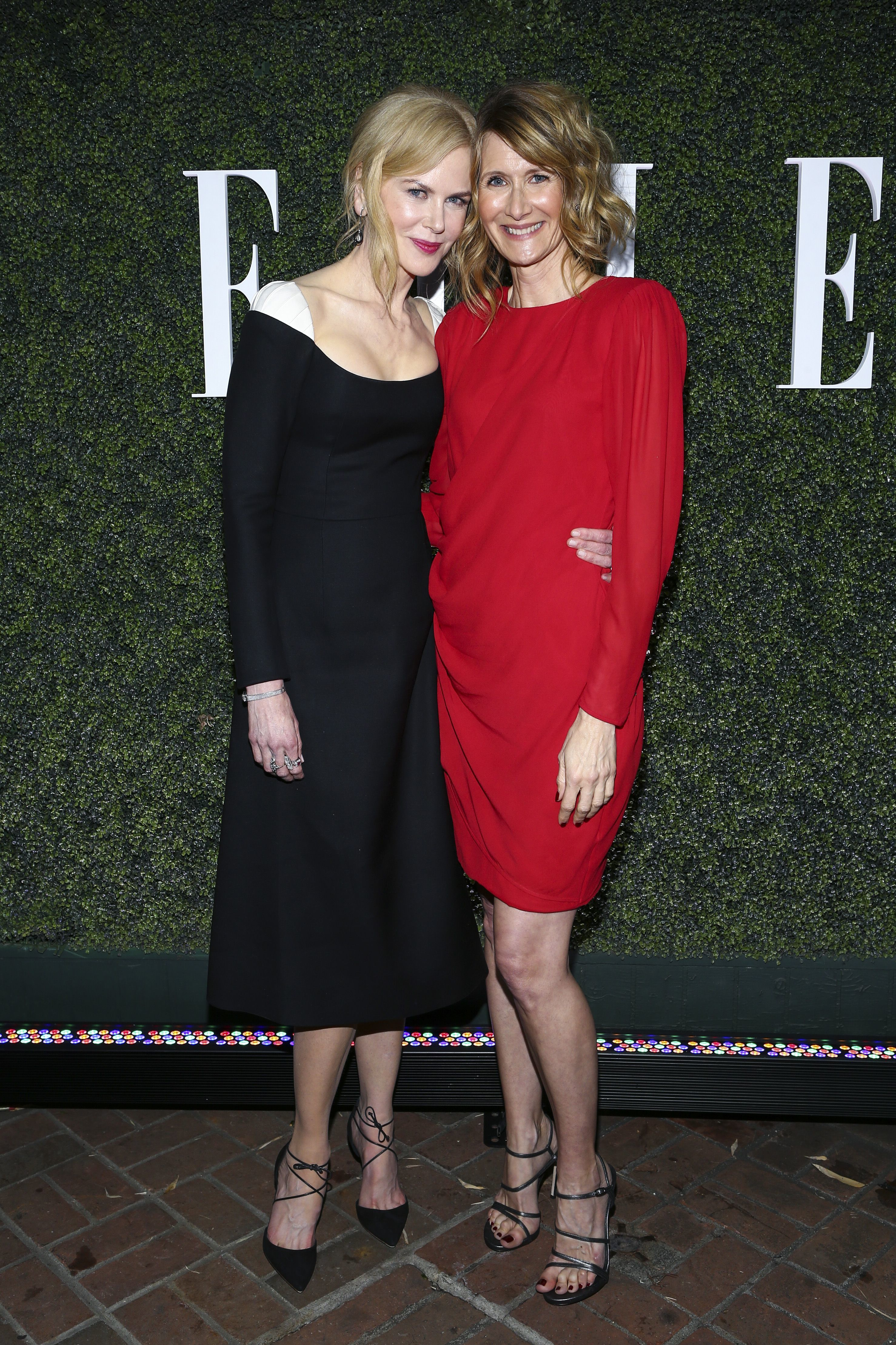 Nicole Kidman and Laura Dern attend the Elle Women in Television in Los Angeles on Jan. 14, 2017.
