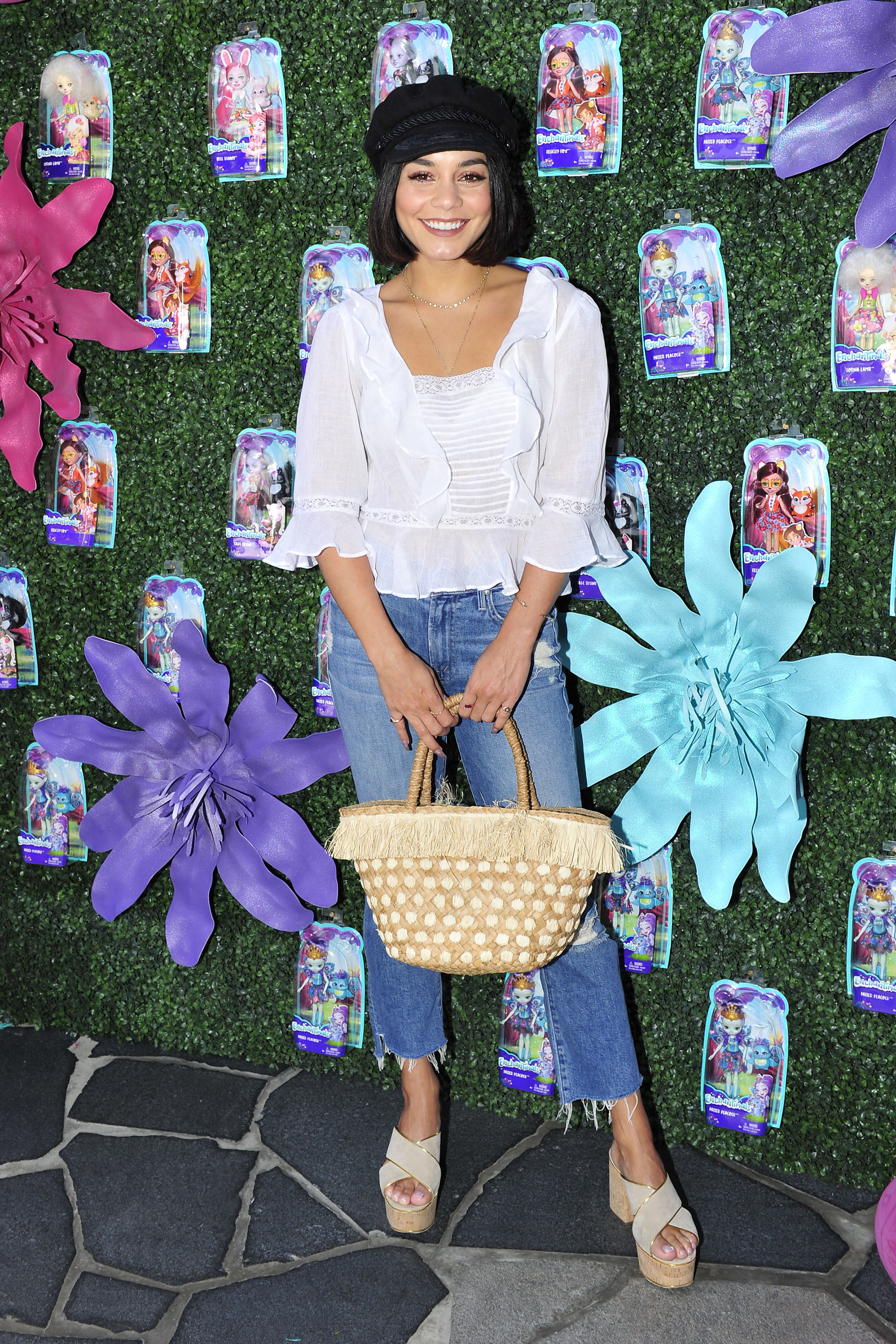 Vanessa Hudgens attends the Enchantimals party at Santa Monica Place in Santa Monica, Calif., in July 18, 2017.