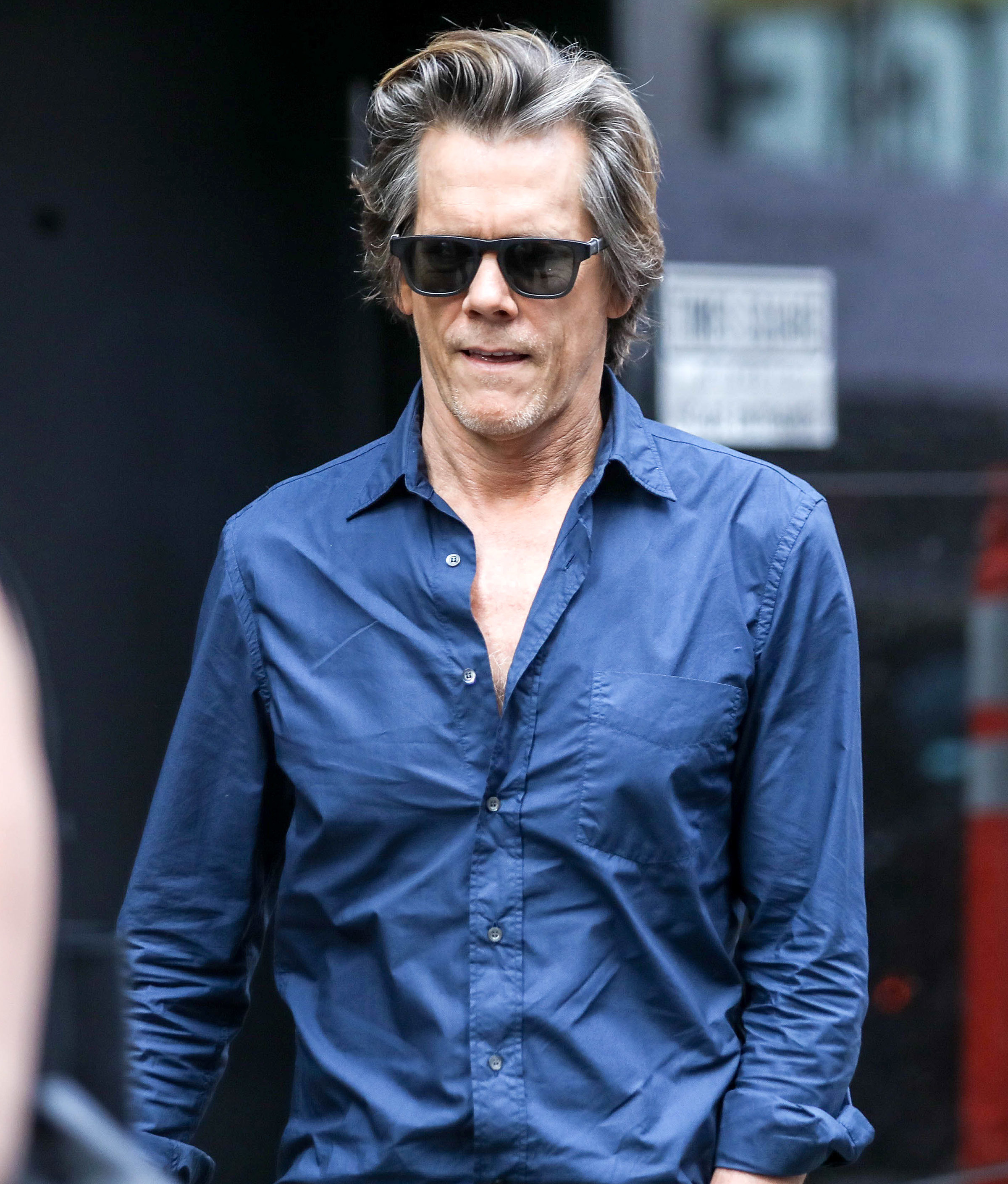 """Kevin Bacon appears at """"Good Morning America"""" in New York City on July 18, 2017."""