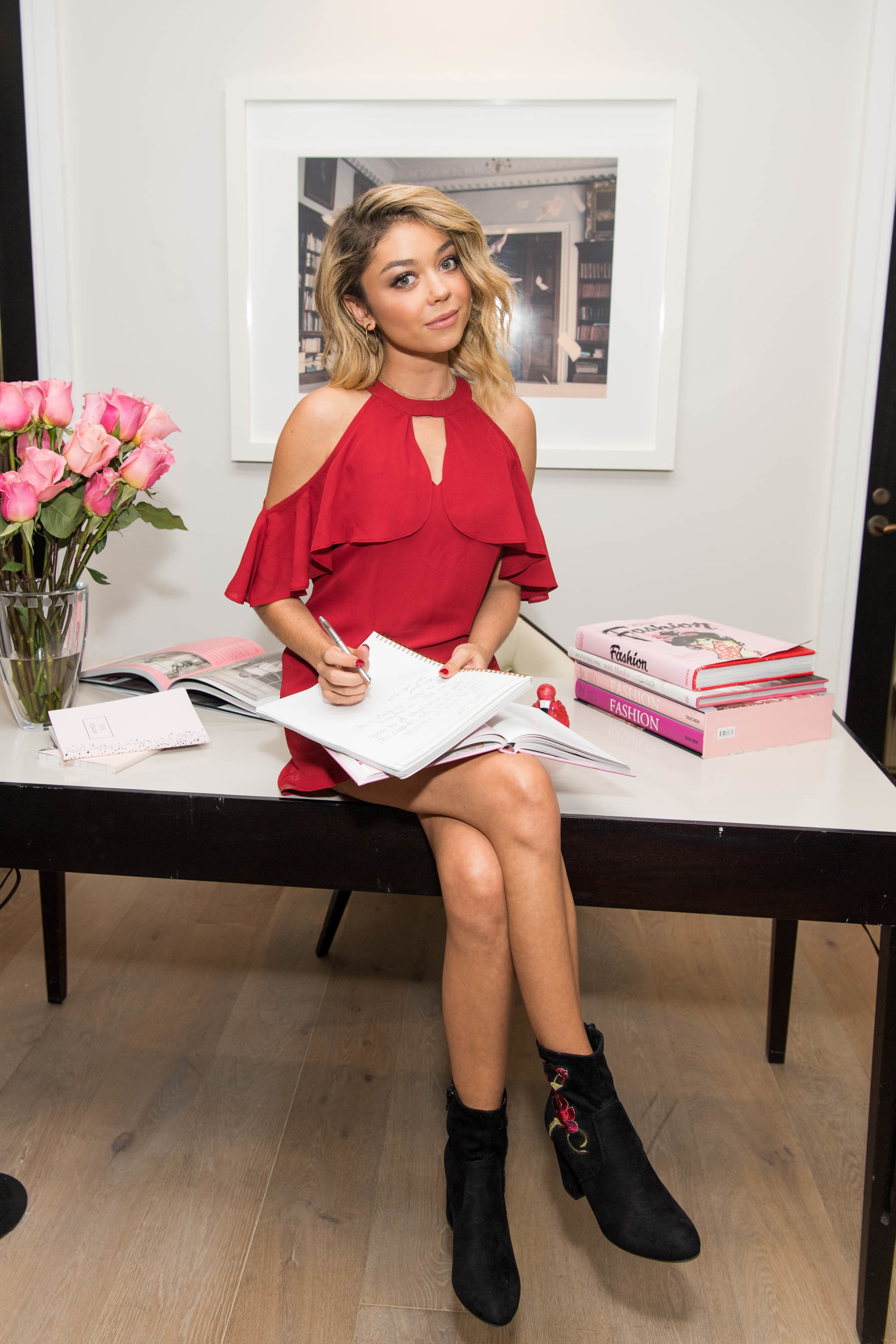 Candie's Creative Director Sarah Hyland shares her back to school campaign and collection at The London Hotel in West Hollywood on July 17, 2017.