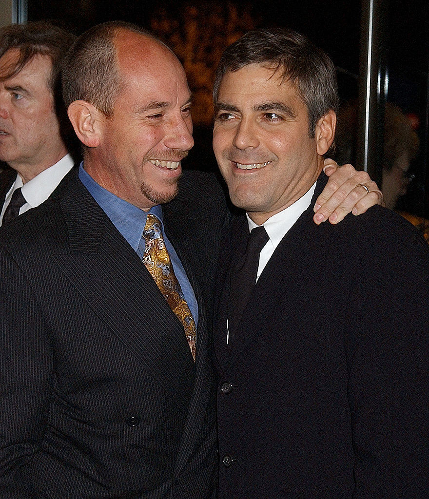 Miguel Ferrer & George Clooney during An Evening To Remember Rosemary Clooney at Beverly Hilton Hotel in Los Angeles on Dec. 10, 2002.