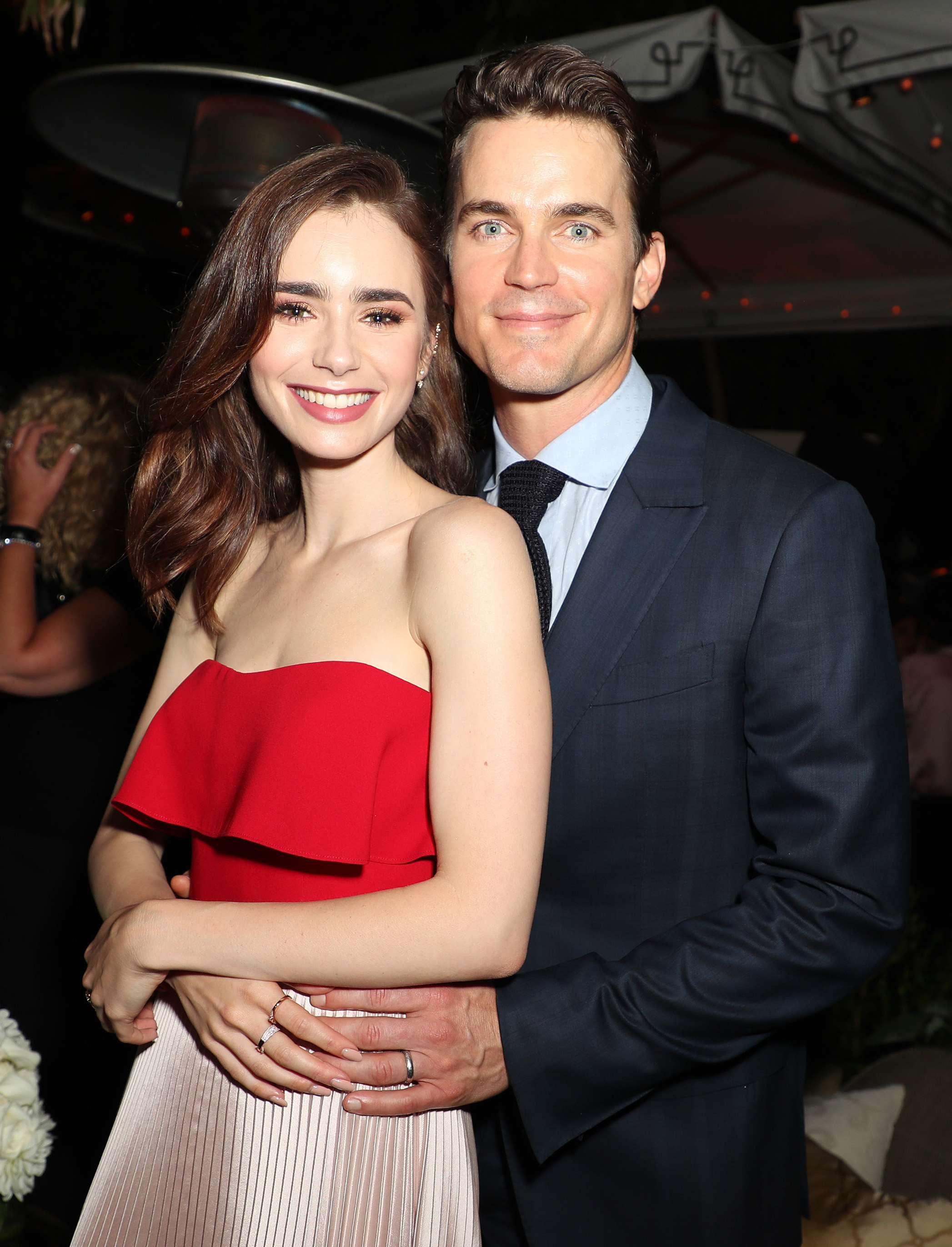 "Lily Collins and Matt Bomer attend ""The Last Tycoon"" TV show premiere after party in Los Angeles on July 27, 2017."