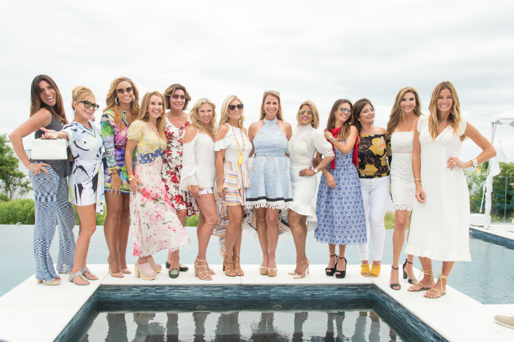 Real Housewives Cast attend the Jill Zarin's 5th Annual Luxury Luncheon in Southampton, New York, on July 29, 2017.