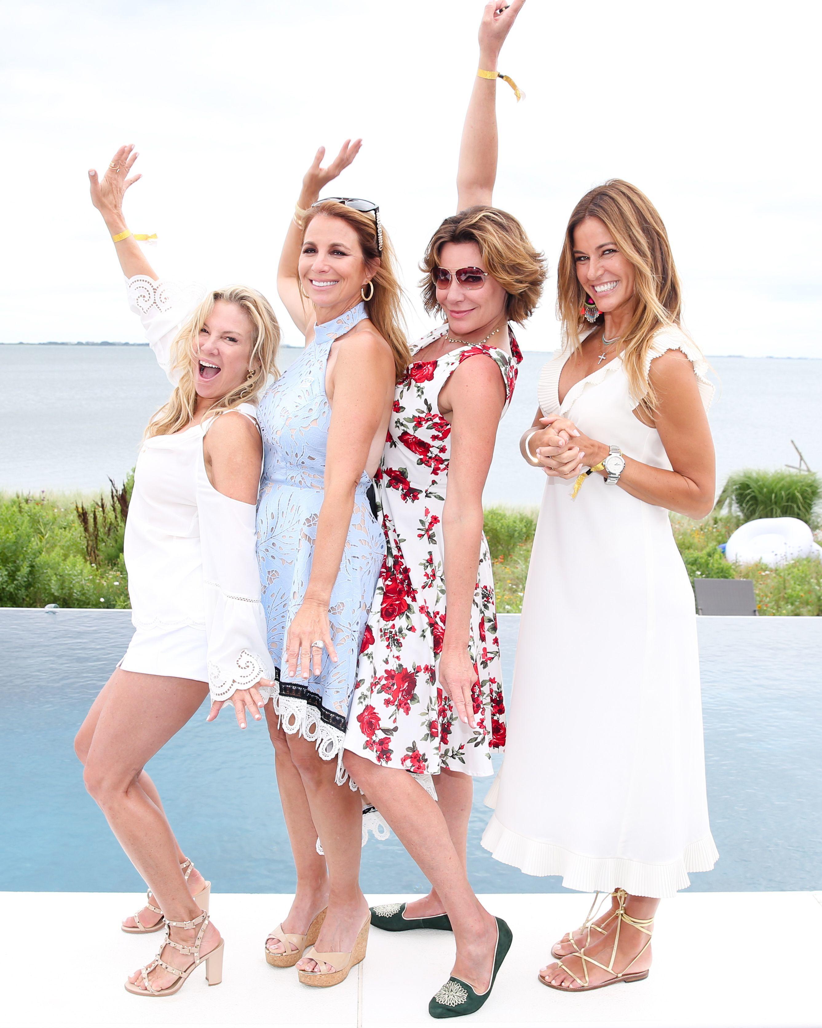 Ramona Singer, Jill Zarin, LuAnn de Lesseps, and Kelly Bensimon attend Jill Zarin's 5th Annual Luxury Luncheon in Southhampton on July 29, 2017.