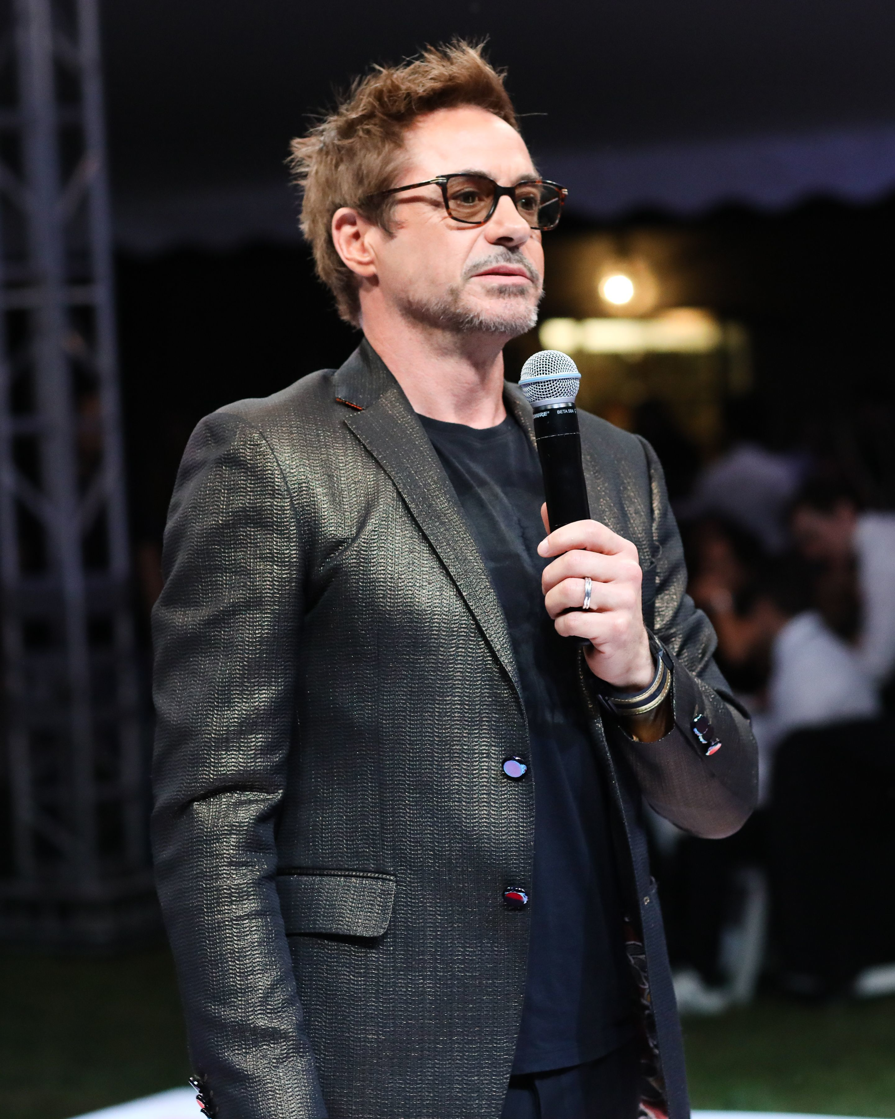 Robert Downey Jr. attends the 24th Annual Watermill Centre Summer Fly Into The Sun Benefit and Auction in New York City on July 29, 2017.