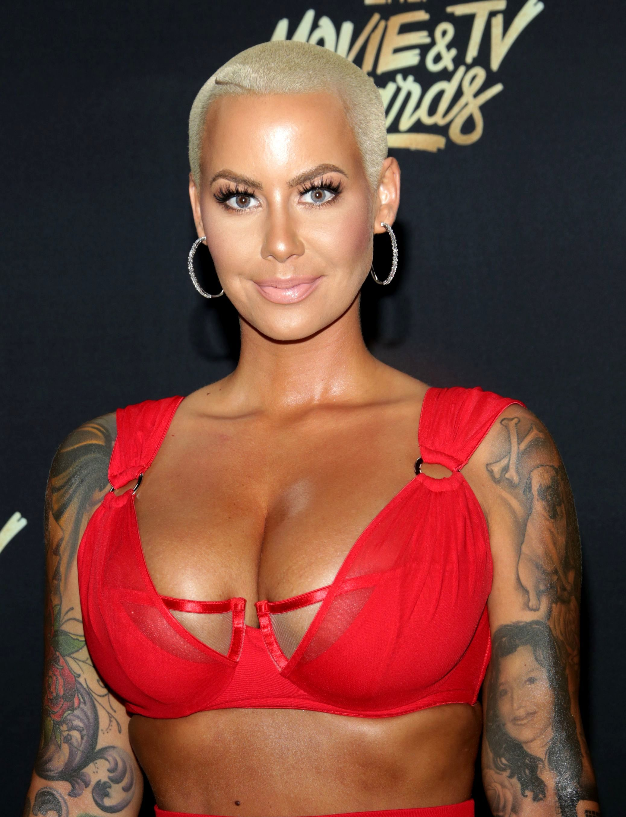 Amber Rose attends the MTV Movie & TV Awards in Los Angeles on May 7, 2017.