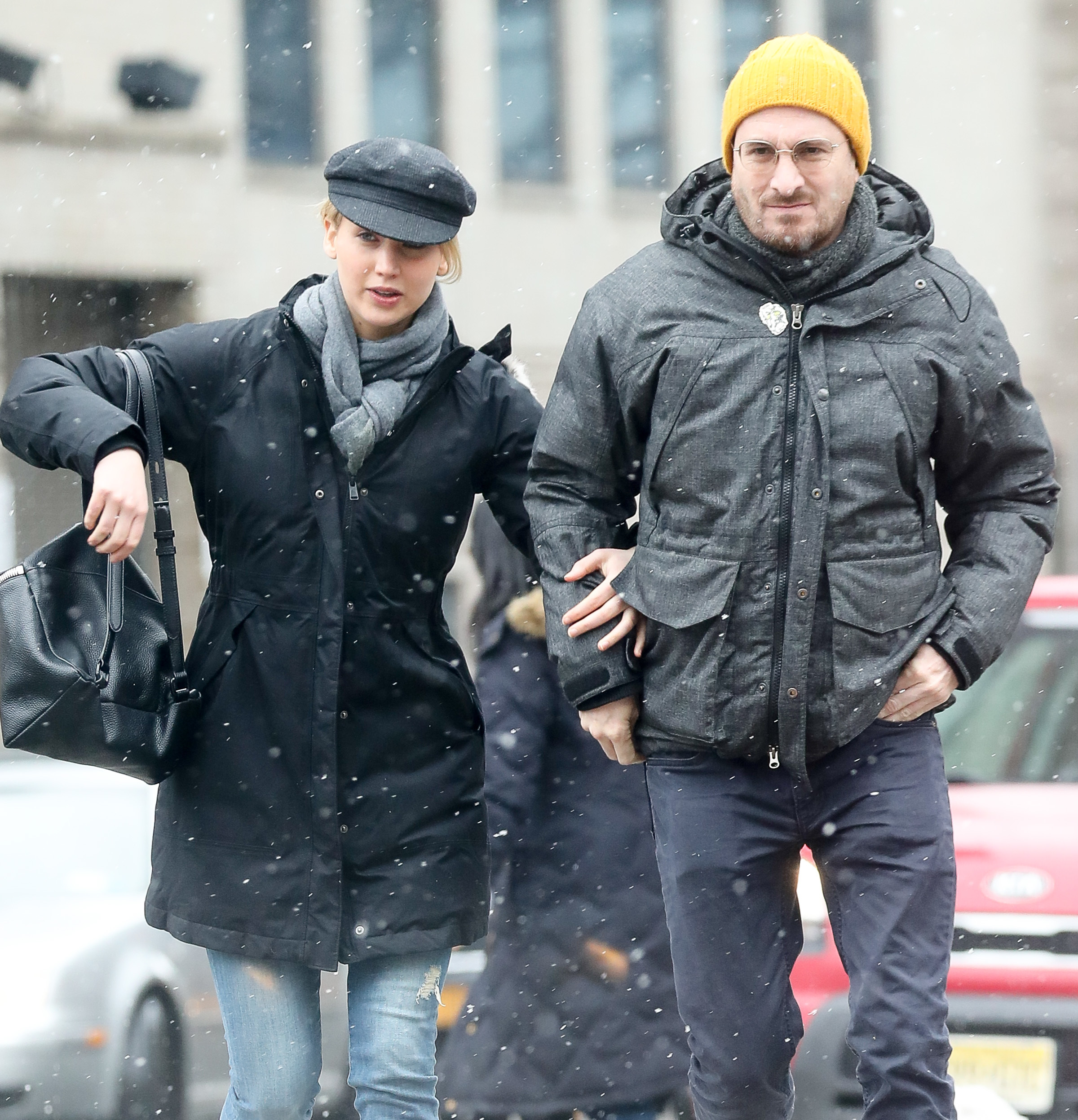 Jennifer Lawrence and Darren Aronofsky were Spotted arm in arm while out shopping in New York City on March 3, 2017.