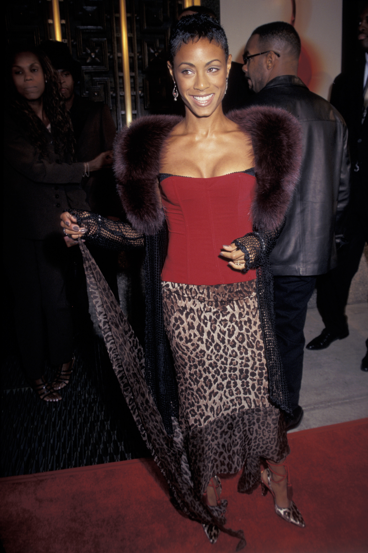 Jada Pinkett attends the 1997 MTV Video Music Awards in New York City on Sept. 6, 1997.