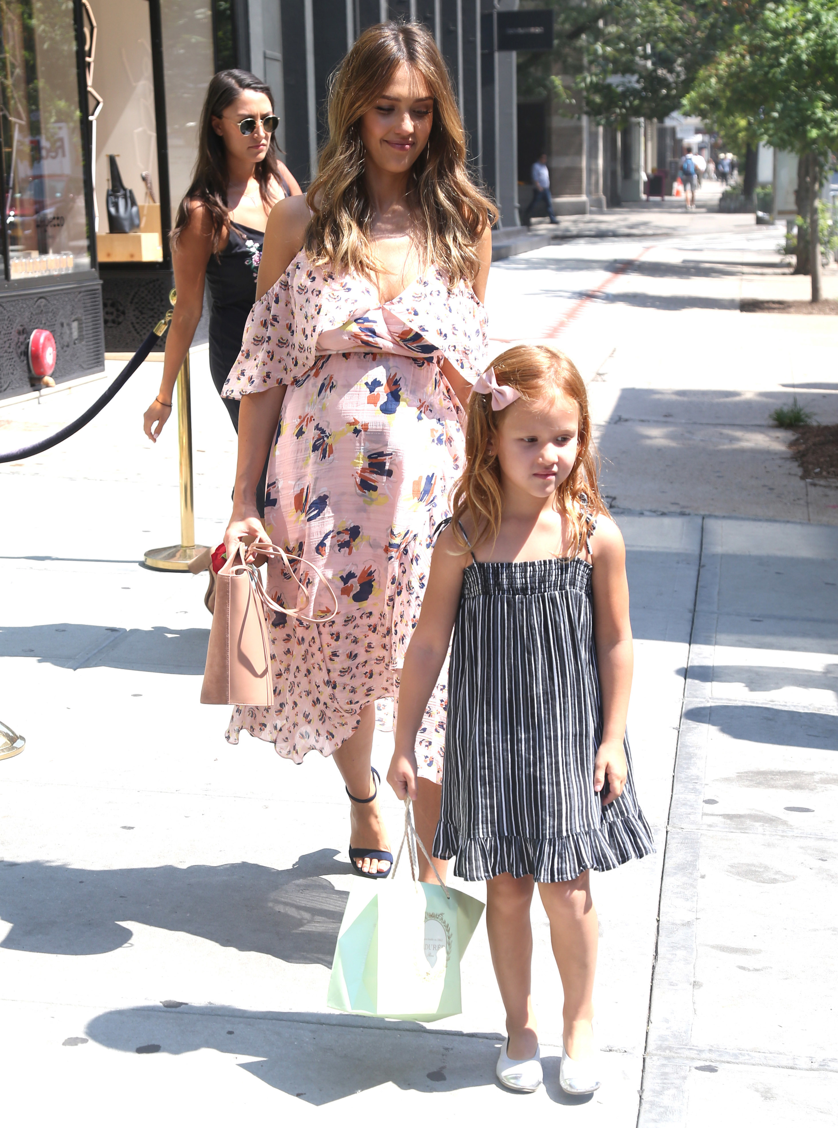 Jessica Alba and daughter Haven Warren were spotted out and about in New York City on Aug. 3, 2017.