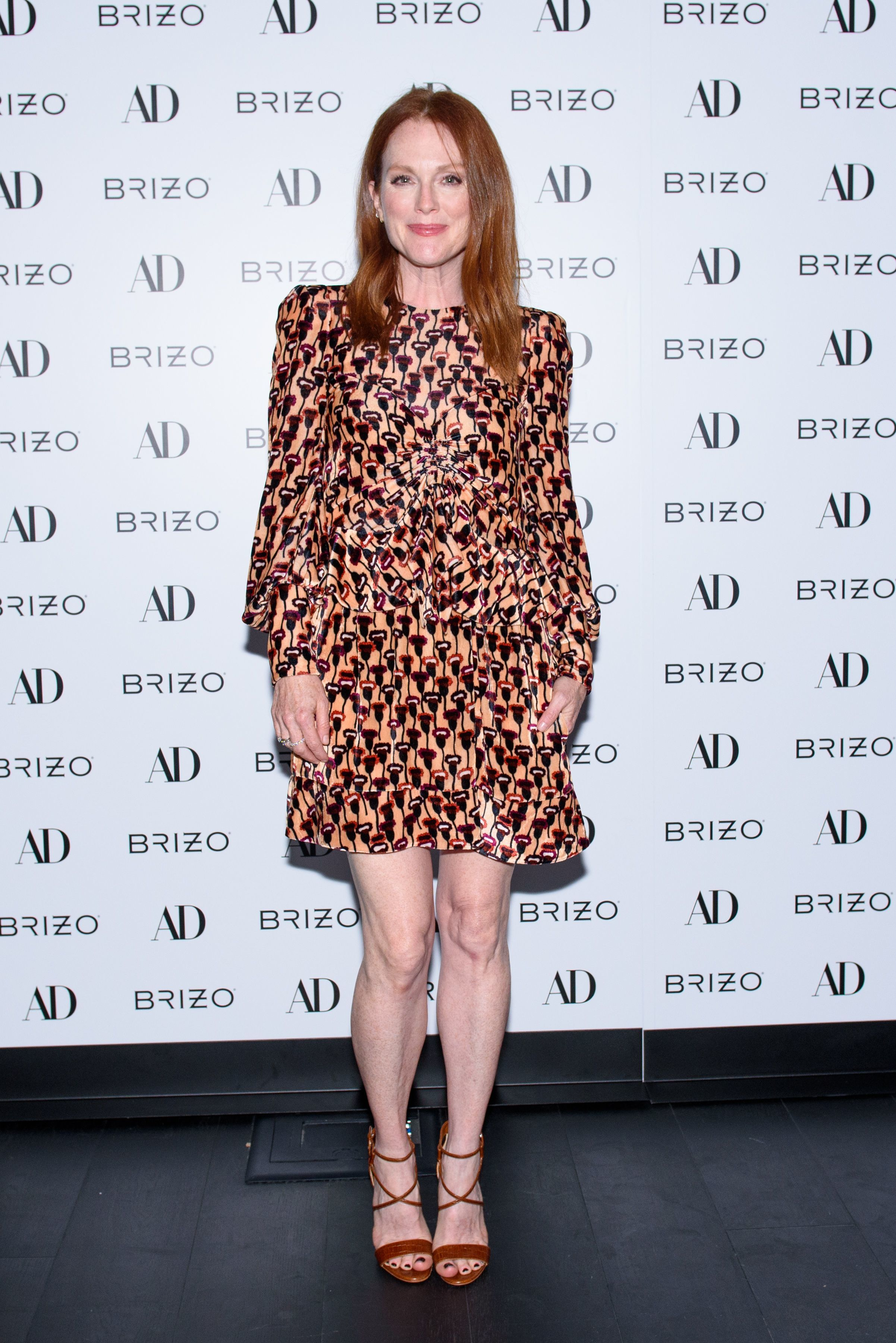 Julianne Moore attends the Architectural Digest September Style issue party in New York City on Aug. 2, 2017.