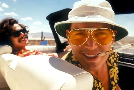 "Benicio Del Toro and Johnny Depp appear in ""Fear and Loathing In Las Vegas"" in 1998."
