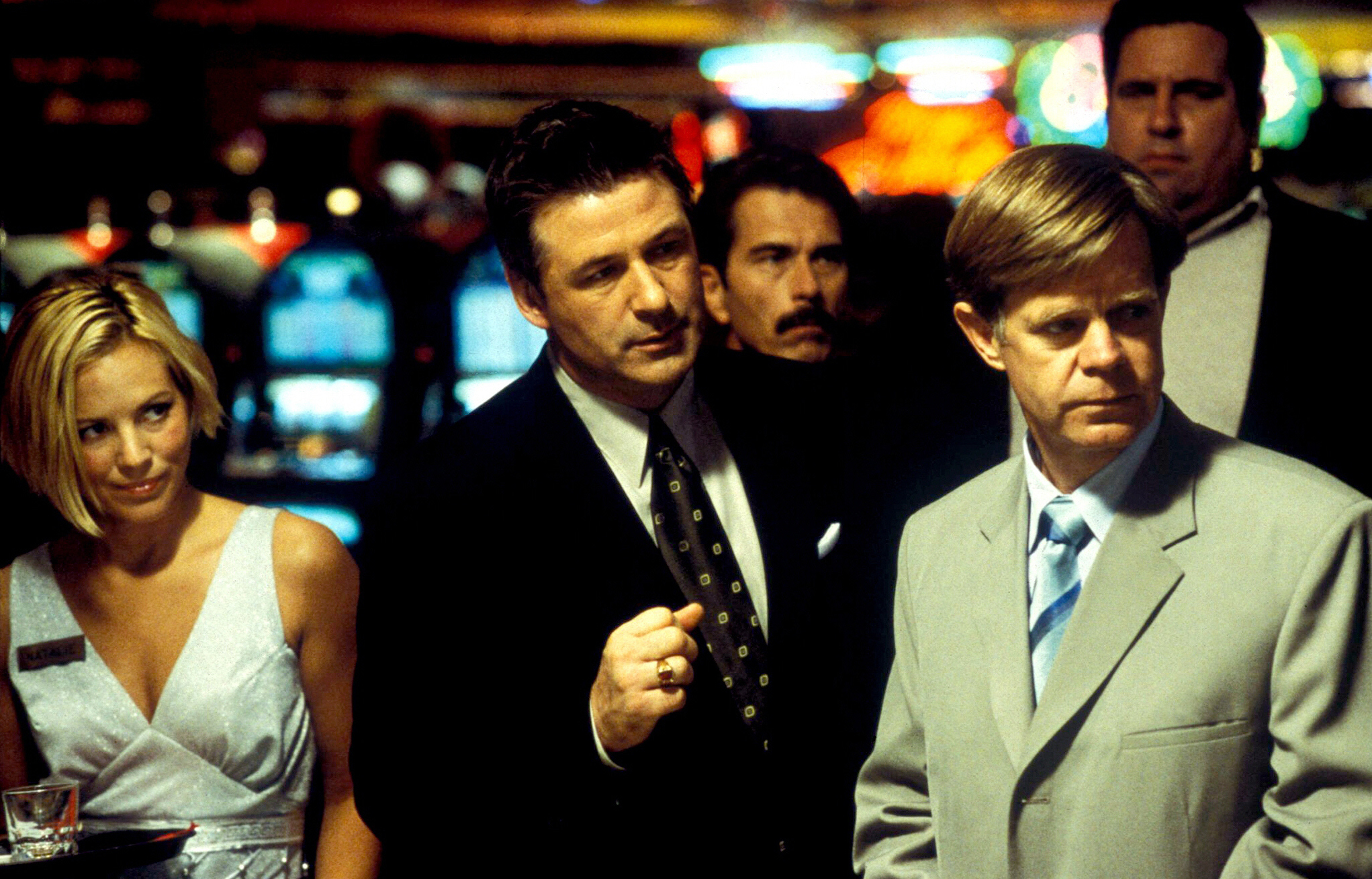 "Maria Bello, Alec Baldwin, and William H. Macy appear in ""The Cooler"" in 2003."
