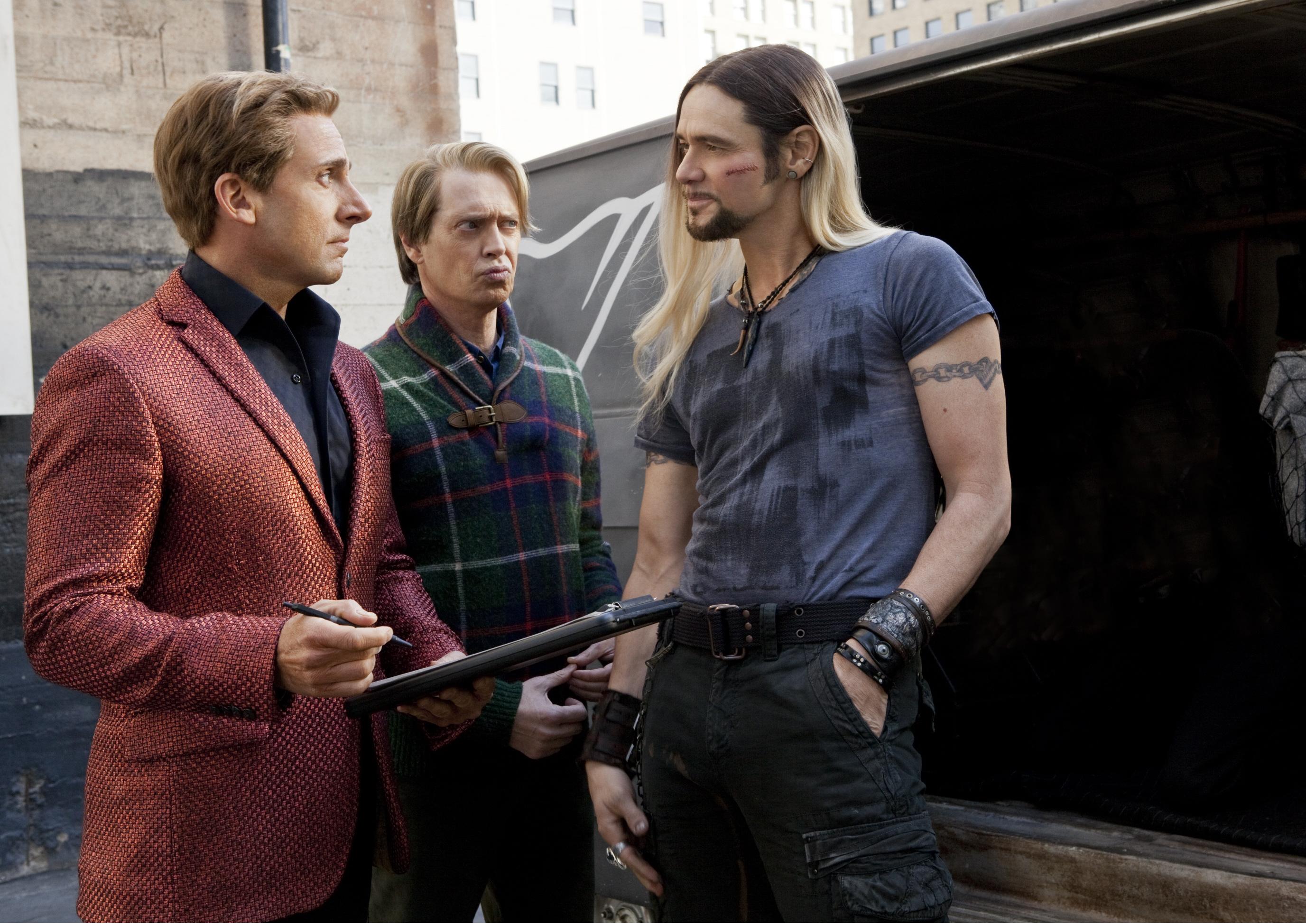 "Steve Carell, Steve Buscemi, Jim Carrey appear in ""The Incredible Burt Wonderstone"" in 2003."