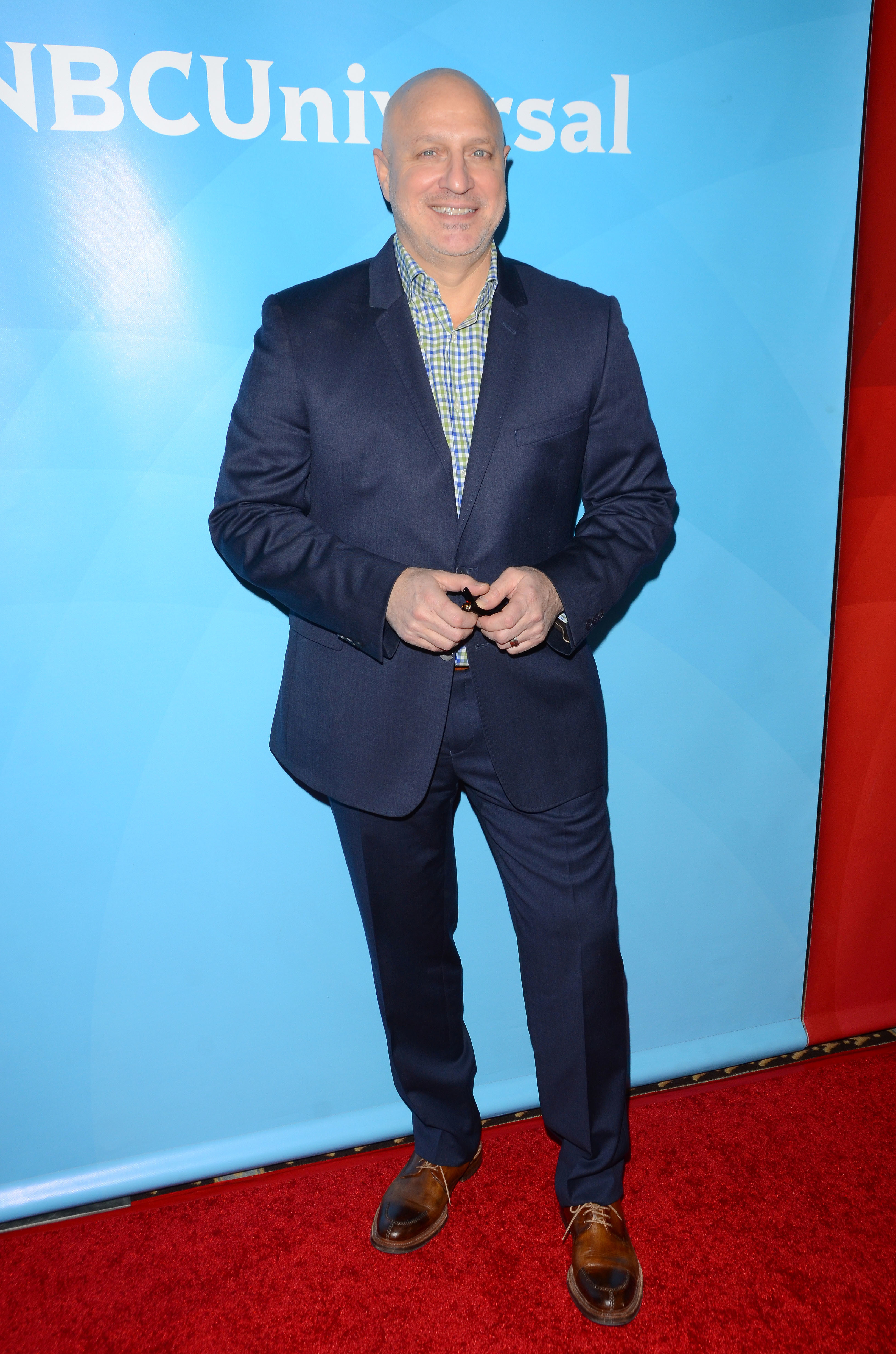 Tom Colicchio attends the NBCUniversal 2015 TCA Press Tour in Pasadena, California on January 15, 2015.