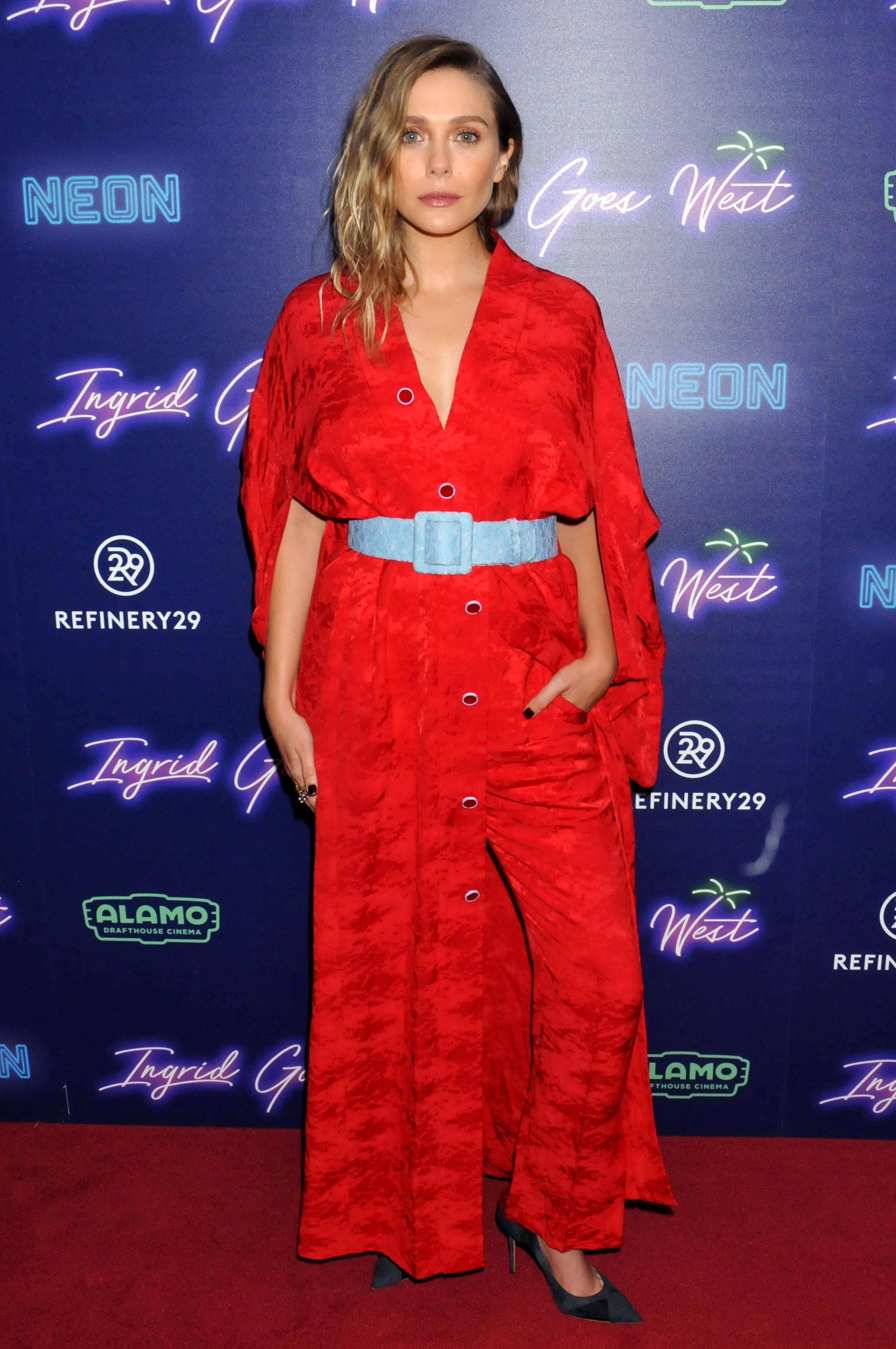 "Elizabeth Olsen attends the ""Ingrid Goes West"" film premiere in New York City on Aug. 8, 2017."
