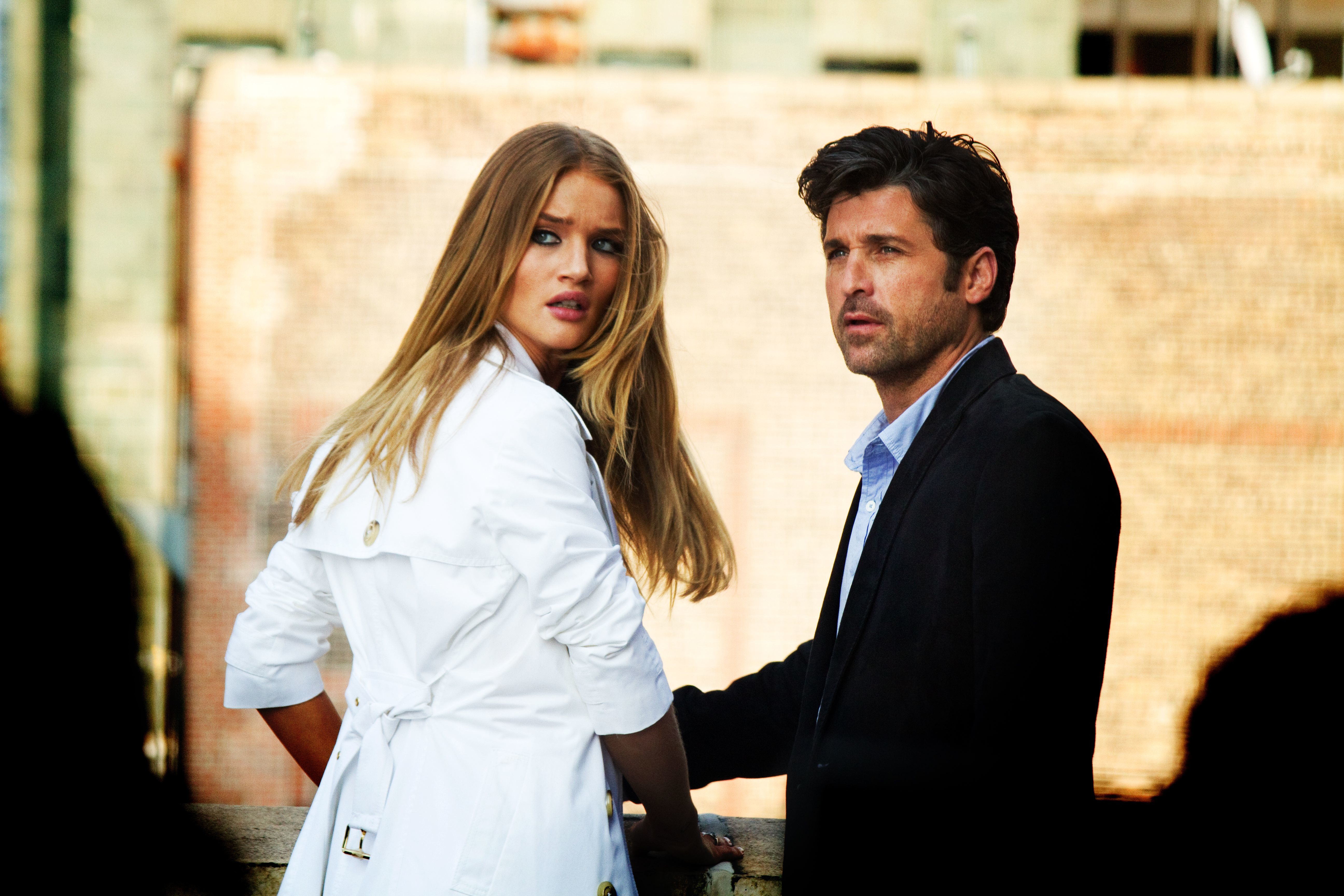 """Rosie Huntington Whiteley and Patrick Dempsey starred in 2011's """"Transformers: Dark of the Moon."""""""