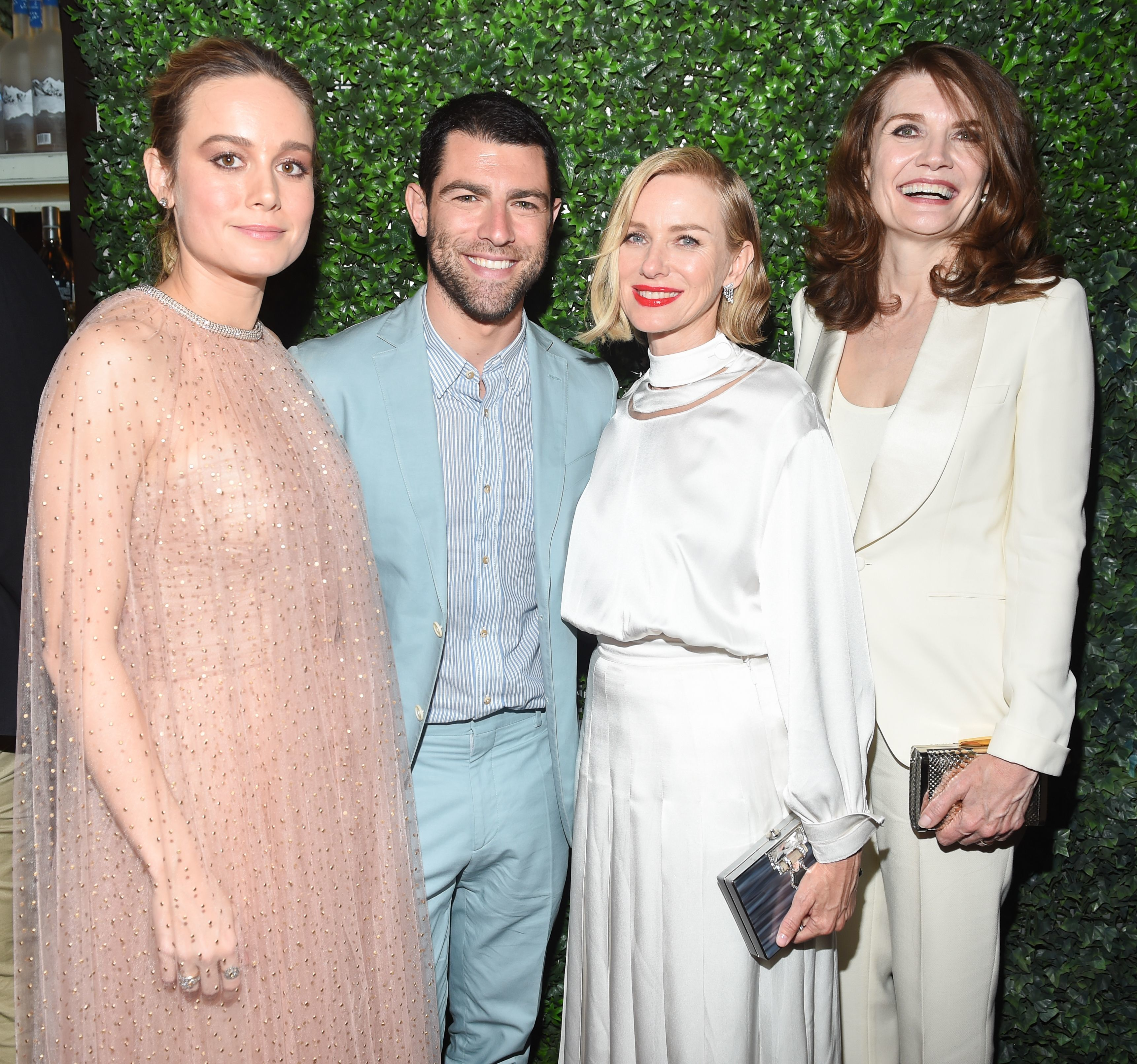 """Brie Larson, Max Greenfield, Naomi Watts, and Jeannette Walls attend """"The Glass Castle"""" film premiere after party in New York City on Aug. 9, 2017."""
