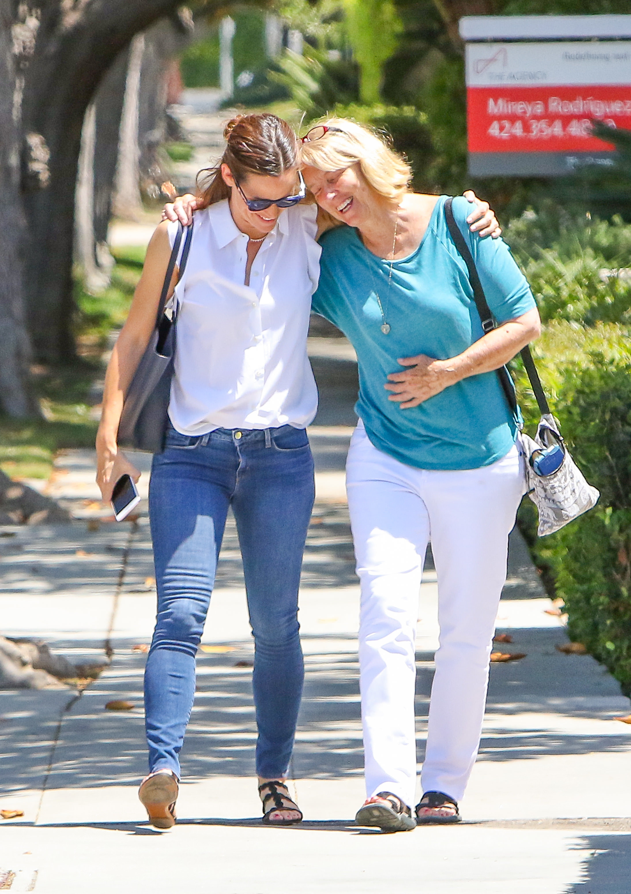 Jennifer Garner and Ben Affleck's mother, Chris Boldt, were spotted looking like two peas in a pod while out in Los Angeles on Aug. 1, 2017.
