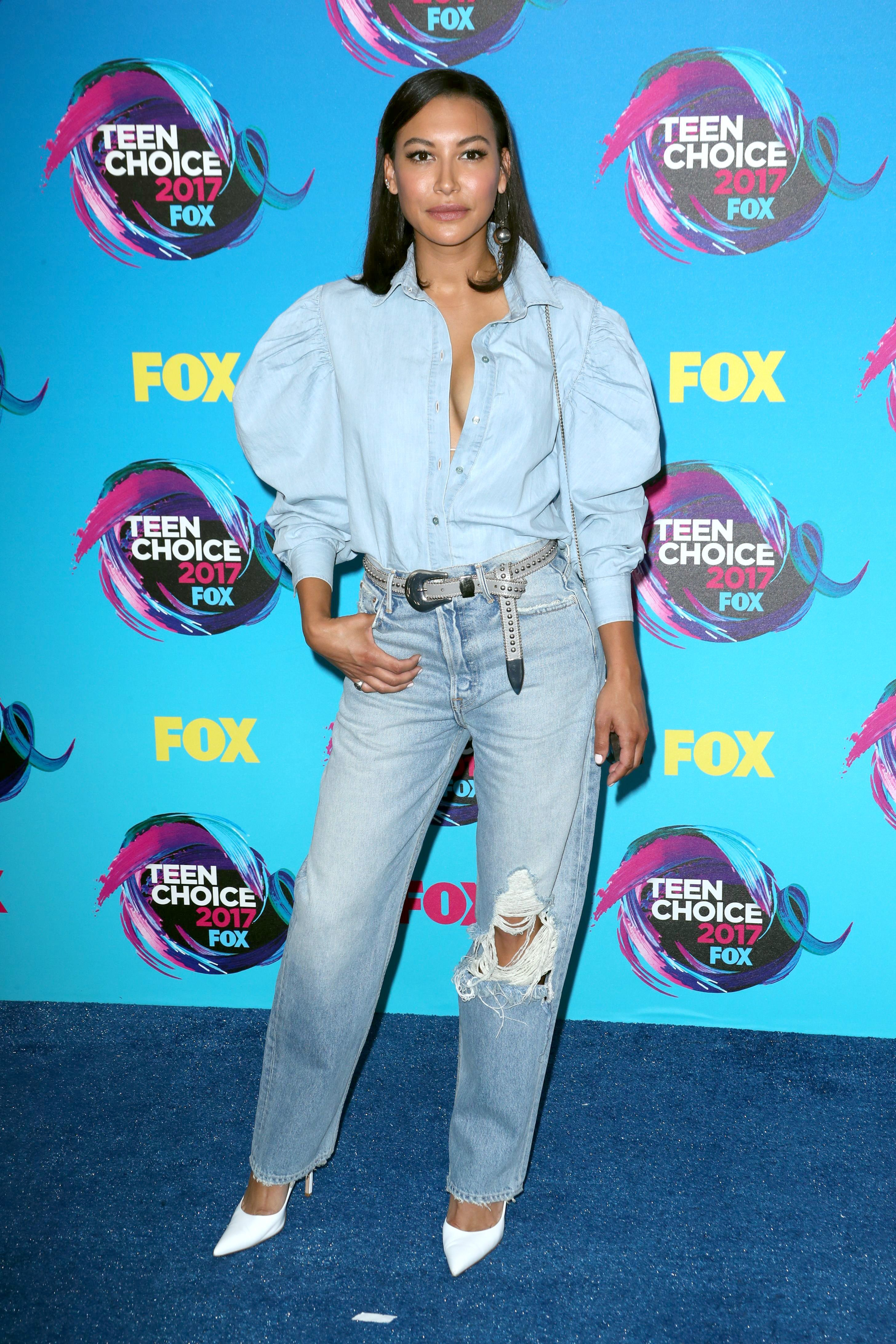 Naya Rivera attends the Teen Choice Awards in Los Angeles on Aug. 13, 2017.