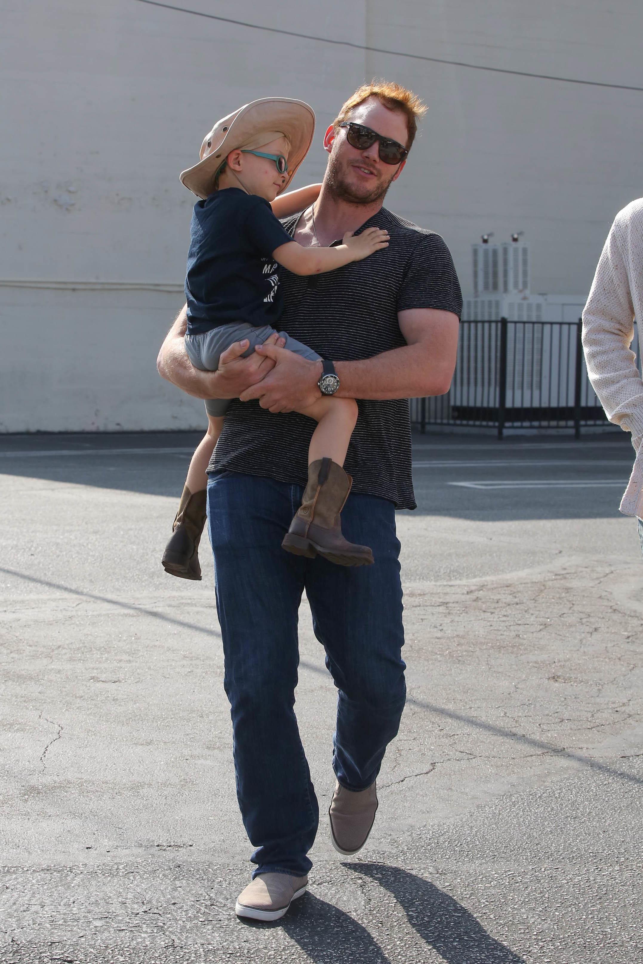 Chris Pratt goes to church in Los Angeles on Aug. 13, 2017.