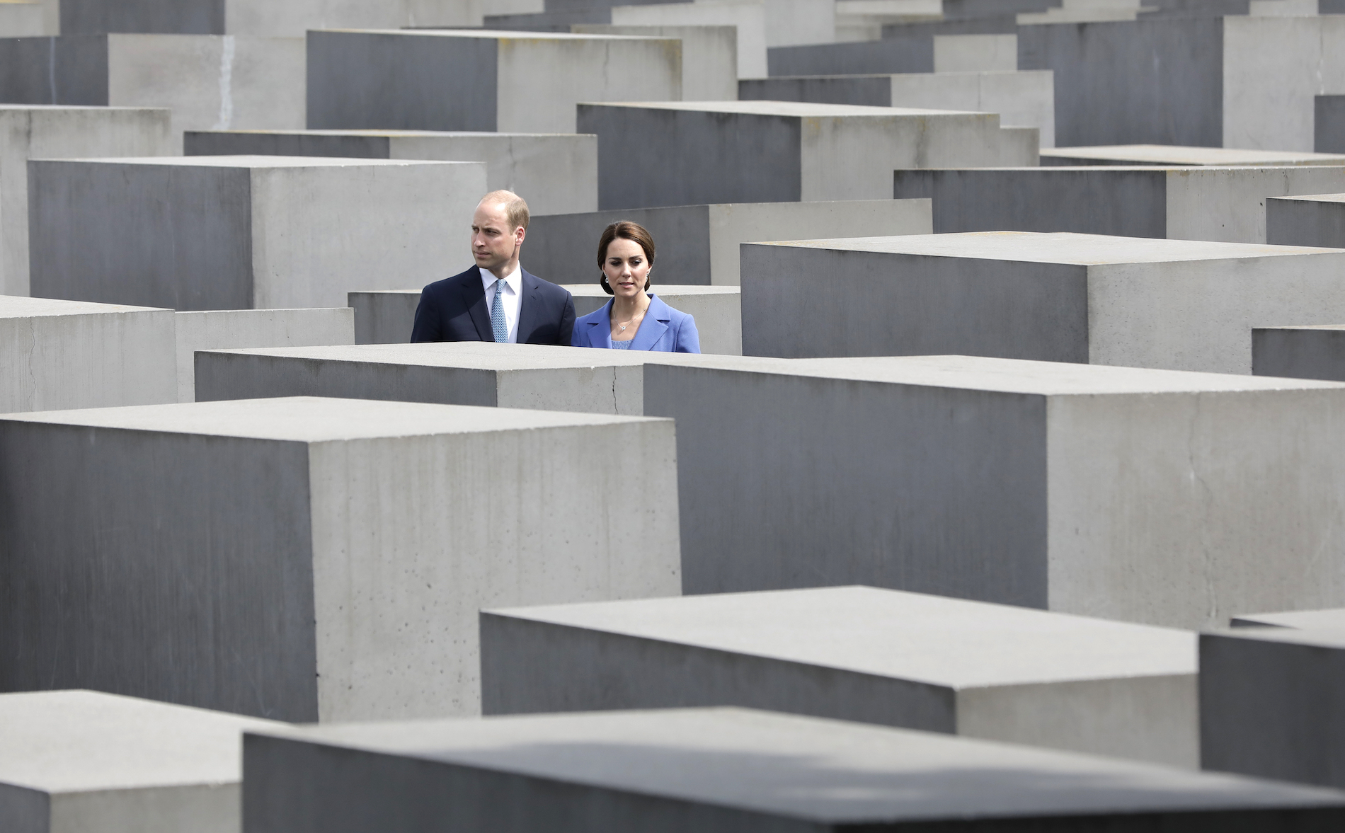 Prince William and Duchess Kate visit the Holocaust Memorial in Berlin on July 19, 2017.