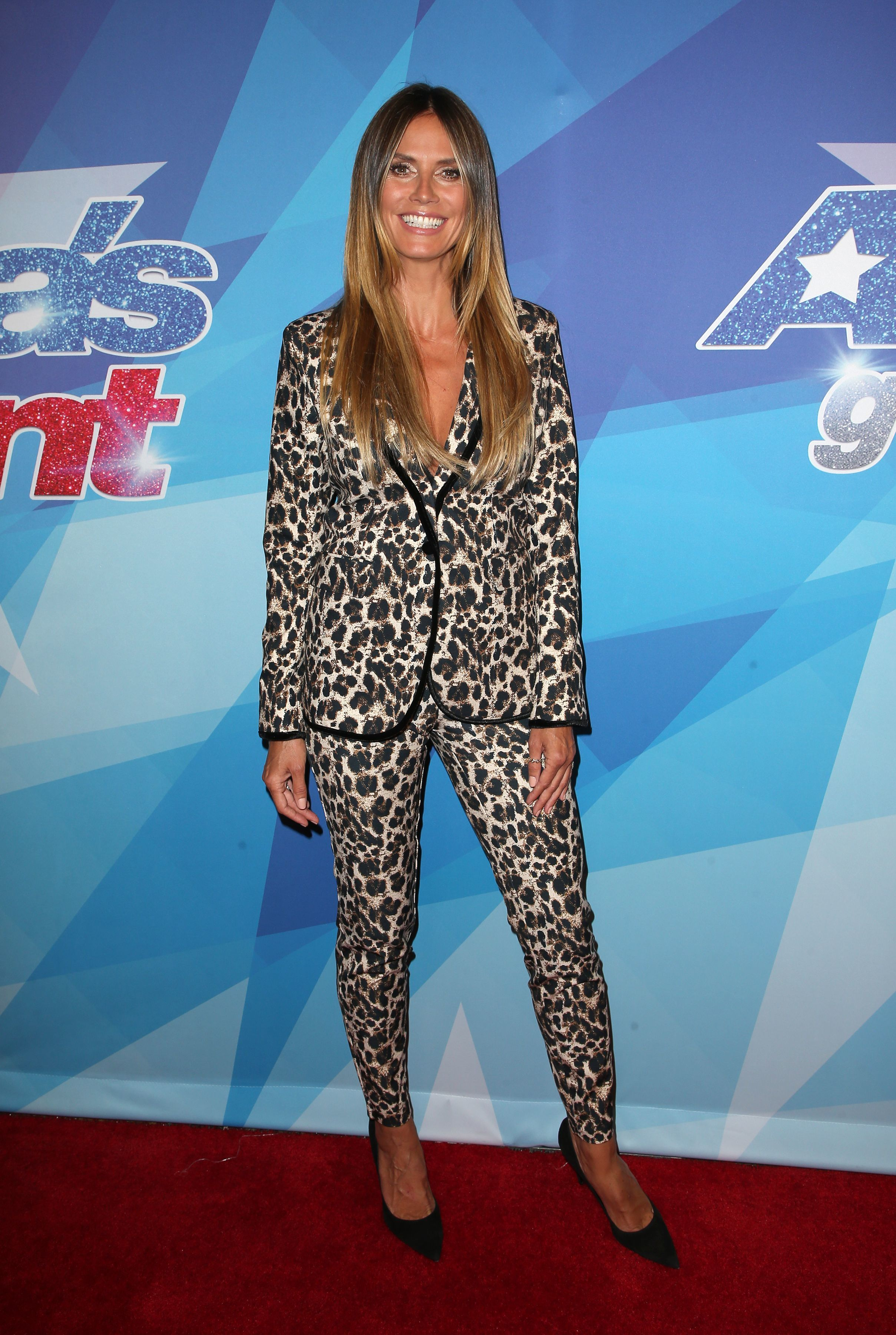 "Heidi Klum attends ""America's Got Talent"" Season 12 Live Show in Los Angeles on Aug. 15, 2017."